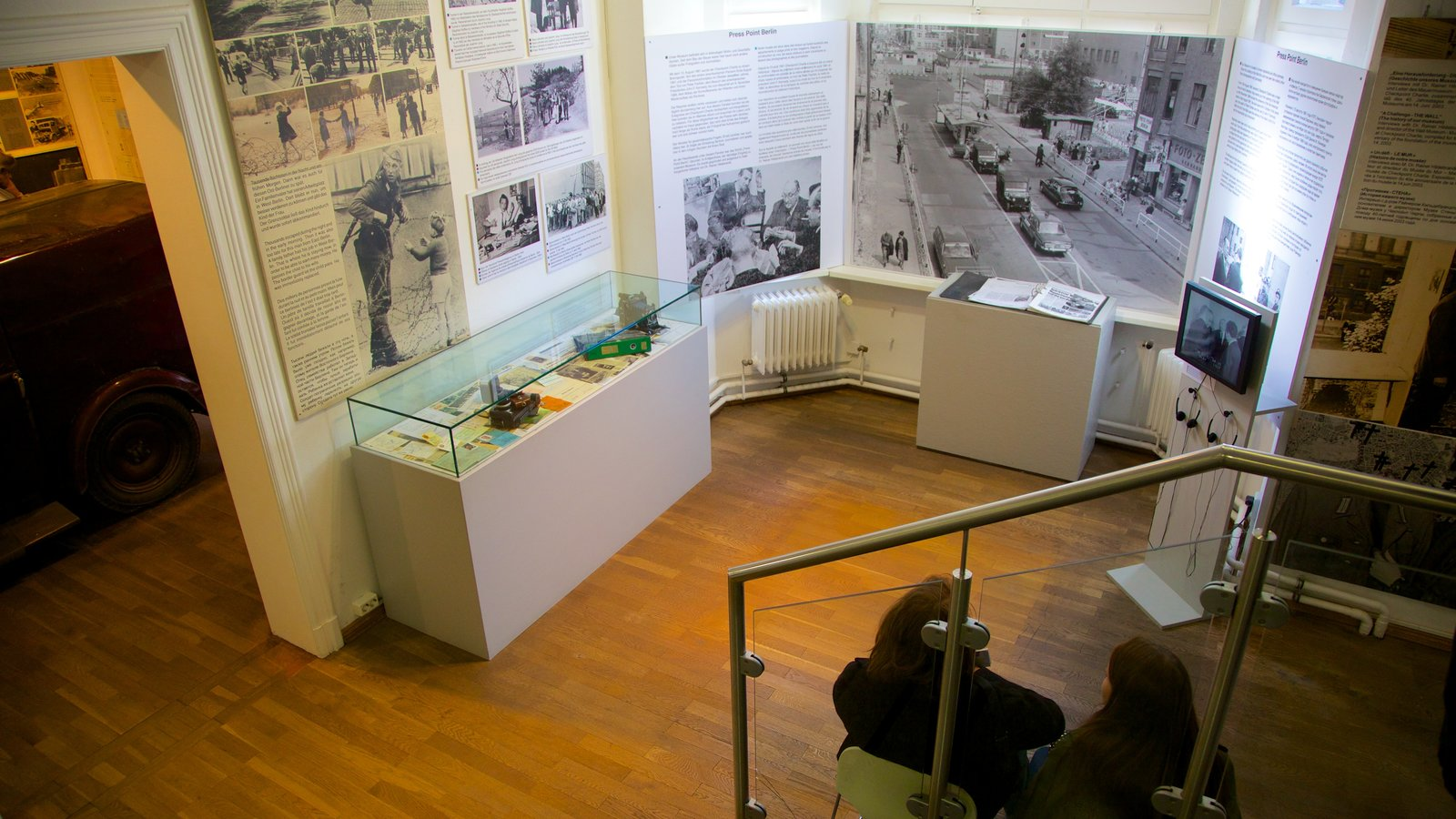 Checkpoint Charlie Museum which includes interior views