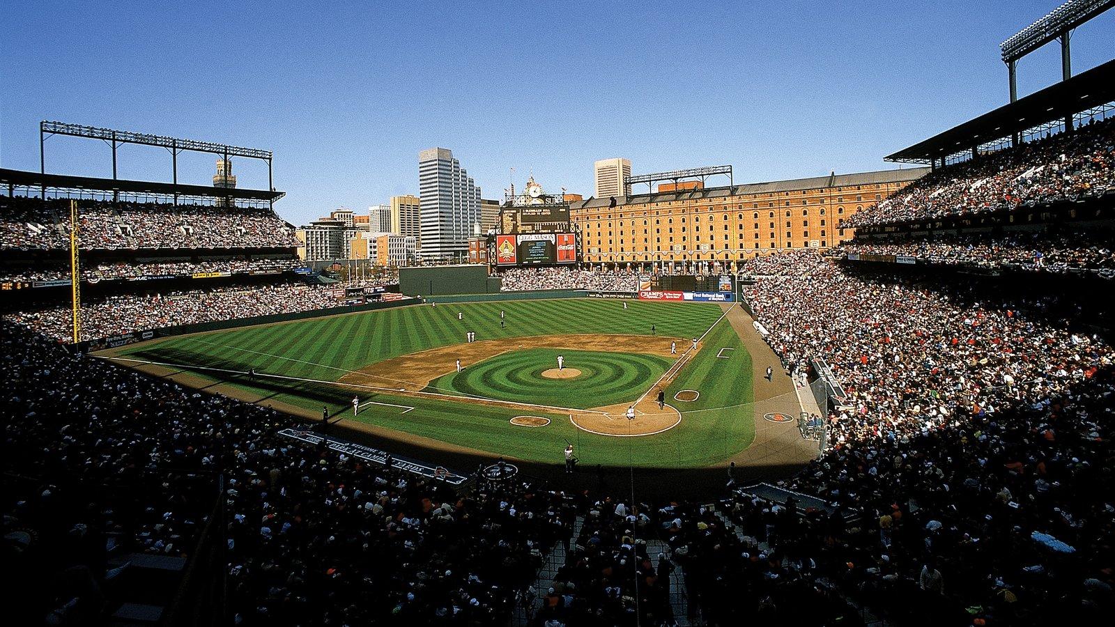 Baltimore que incluye un evento deportivo y una ciudad