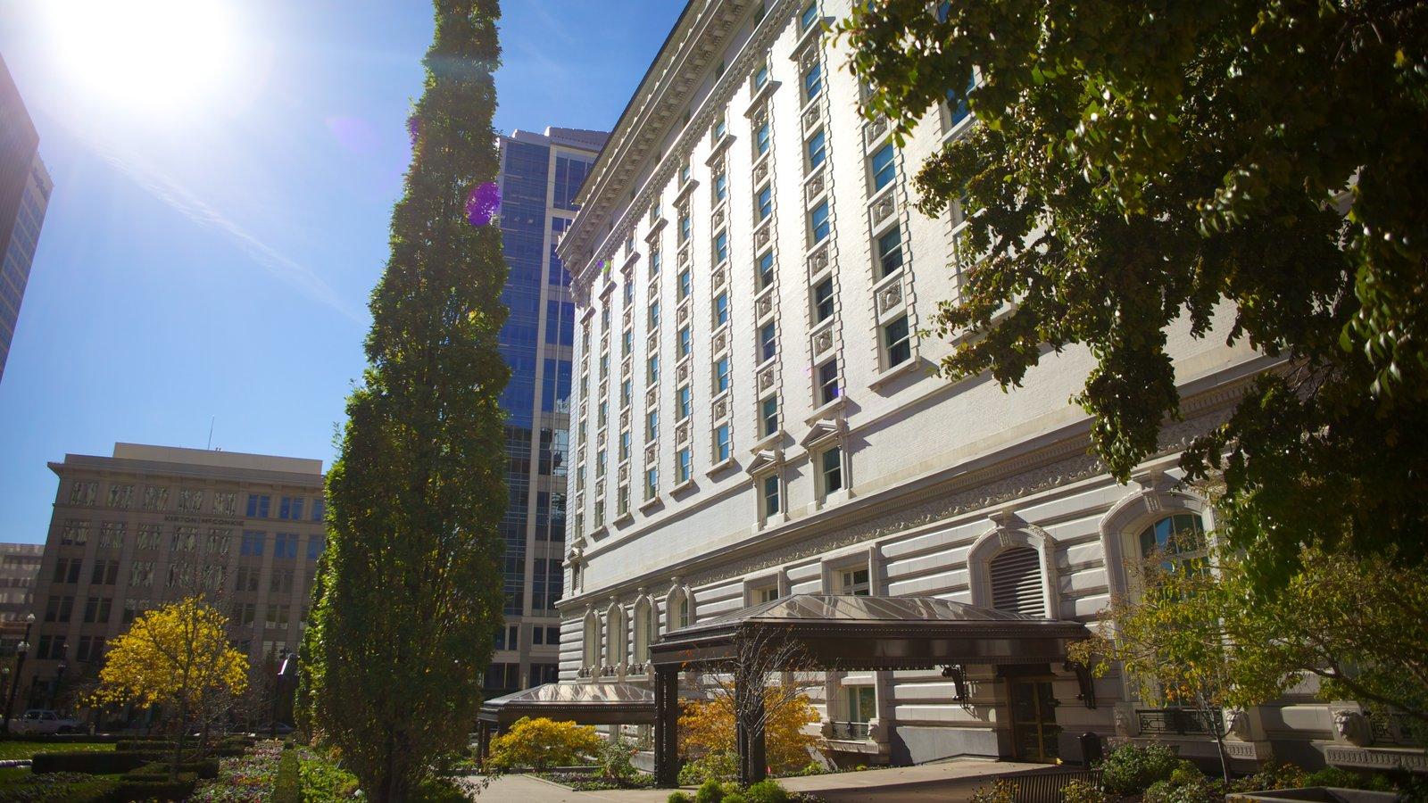 Salt Lake City mostrando escenas urbanas, patrimonio de arquitectura y una ciudad
