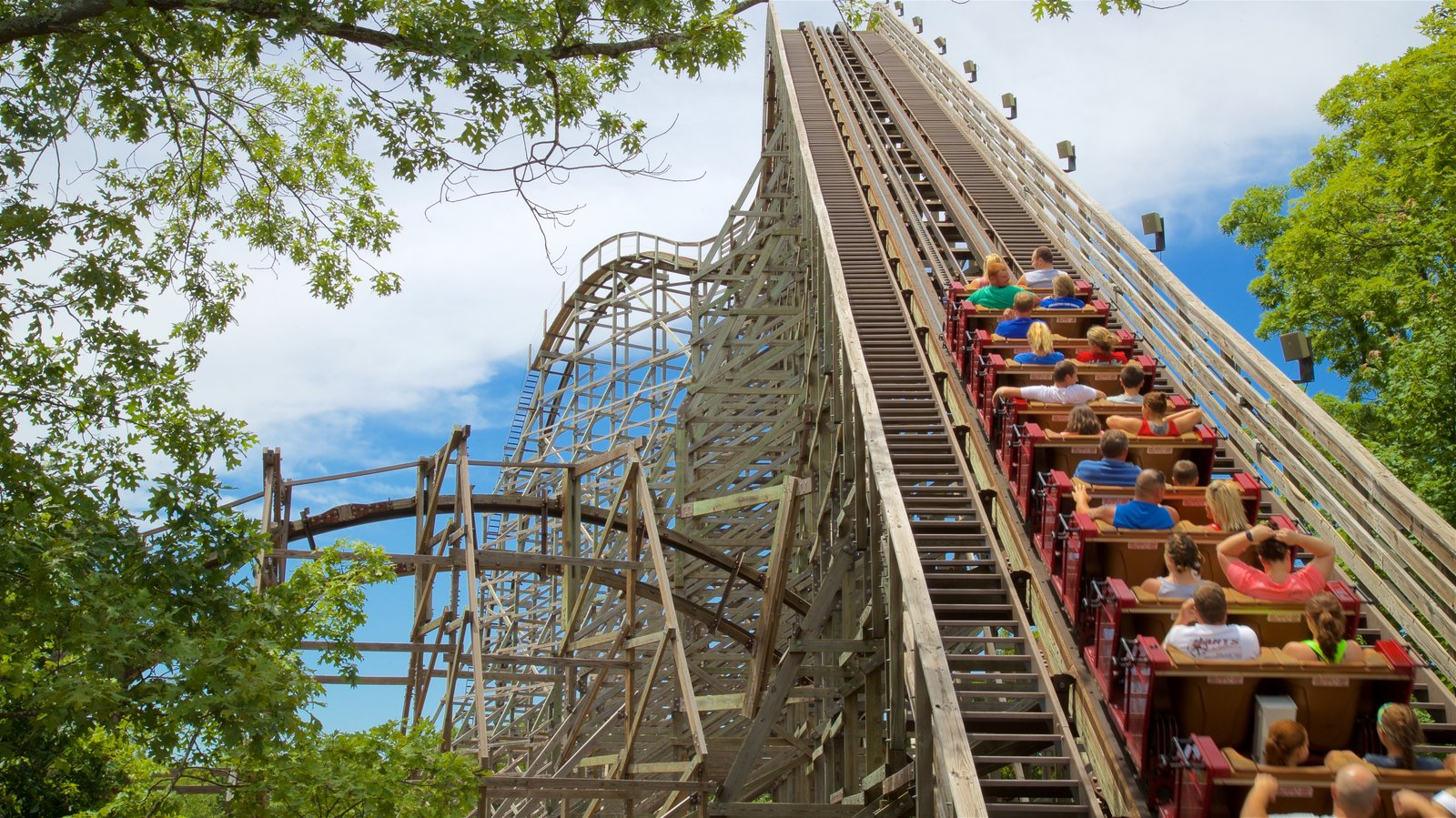 Silver Dollar City featuring rides as well as a small group of people