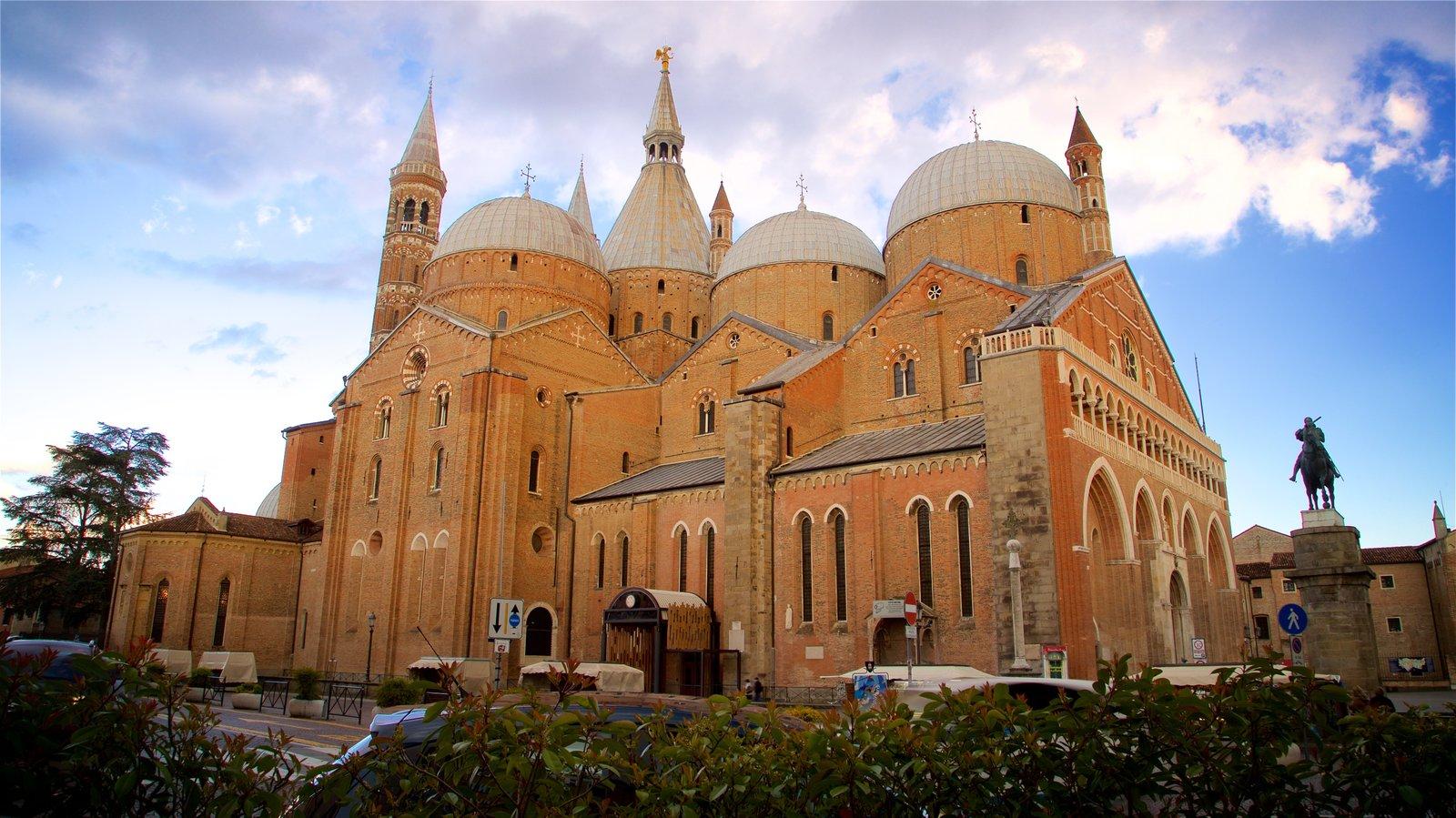 Basilica di Sant\'Antonio da Padova which includes a church or cathedral, a sunset and heritage architecture