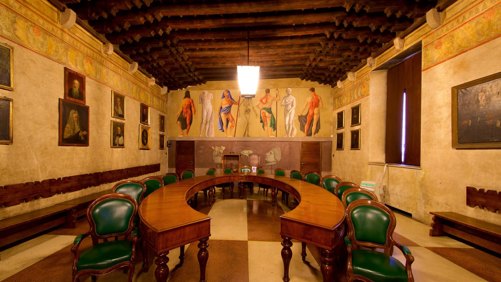 Palazzo del Bò which includes art, interior views and heritage elements