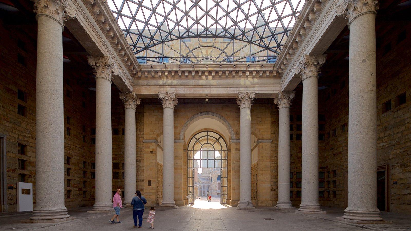 Laboral Ciudad de la Cultura showing interior views, heritage elements and street scenes