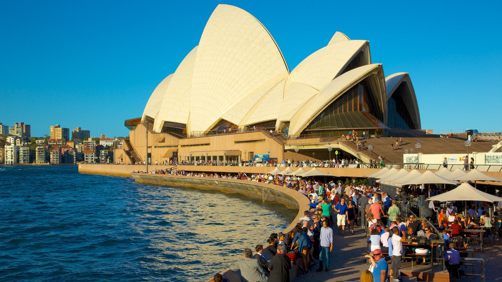 Sydney featuring a bay or harbor, theater scenes and views