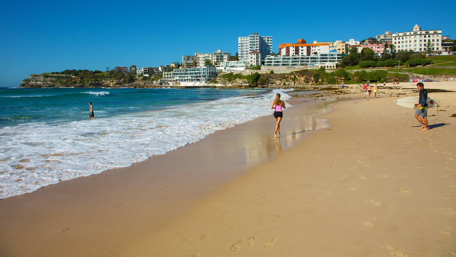 Sydney which includes a beach and a coastal town