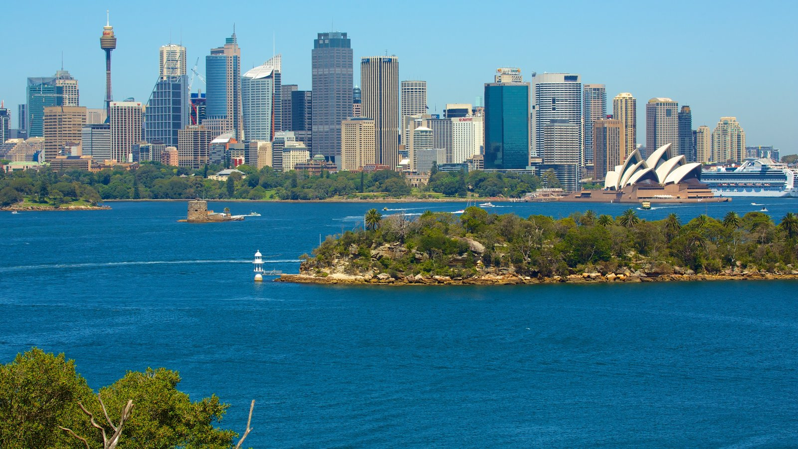 Sydney featuring skyline, a bay or harbor and general coastal views