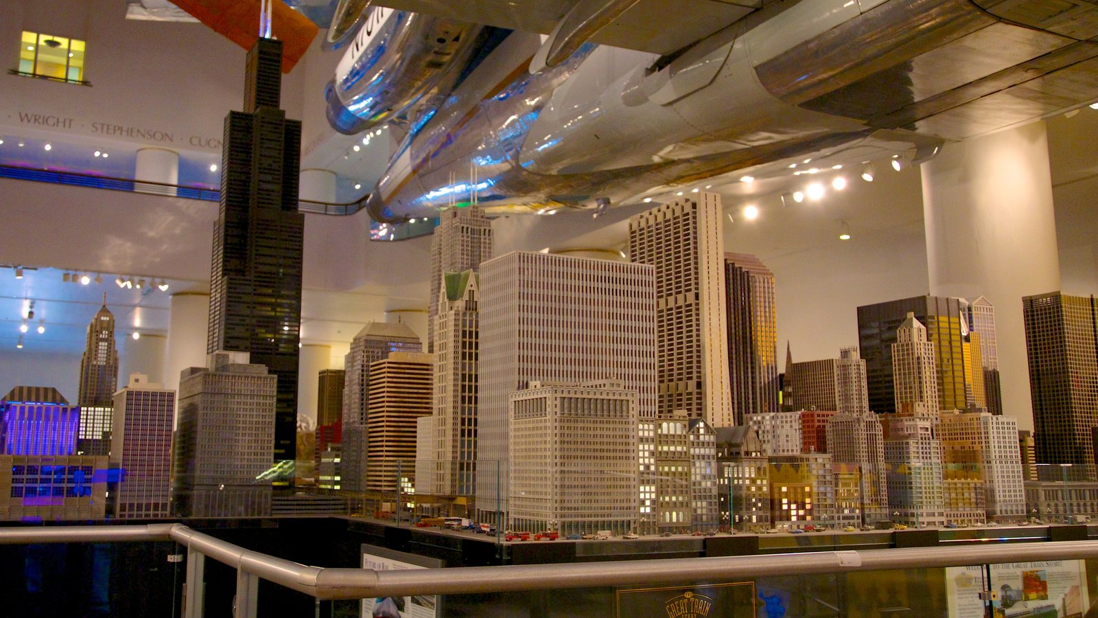 Chicago Museum of Science and Industry showing interior views
