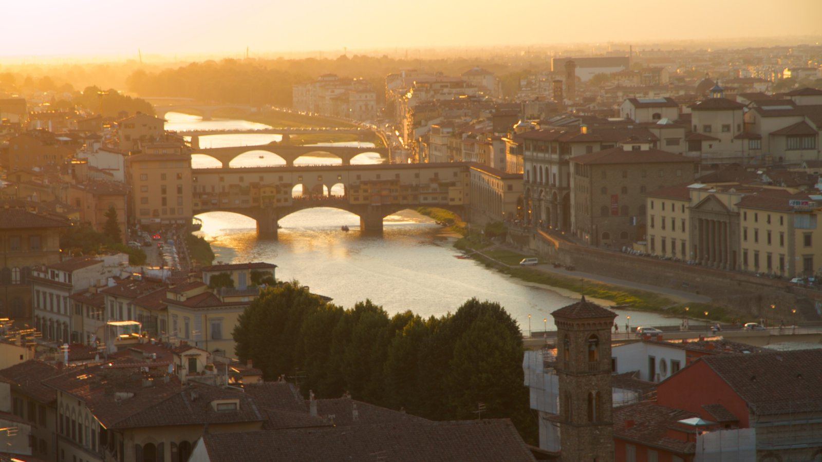 Florence which includes a bridge, a river or creek and a city