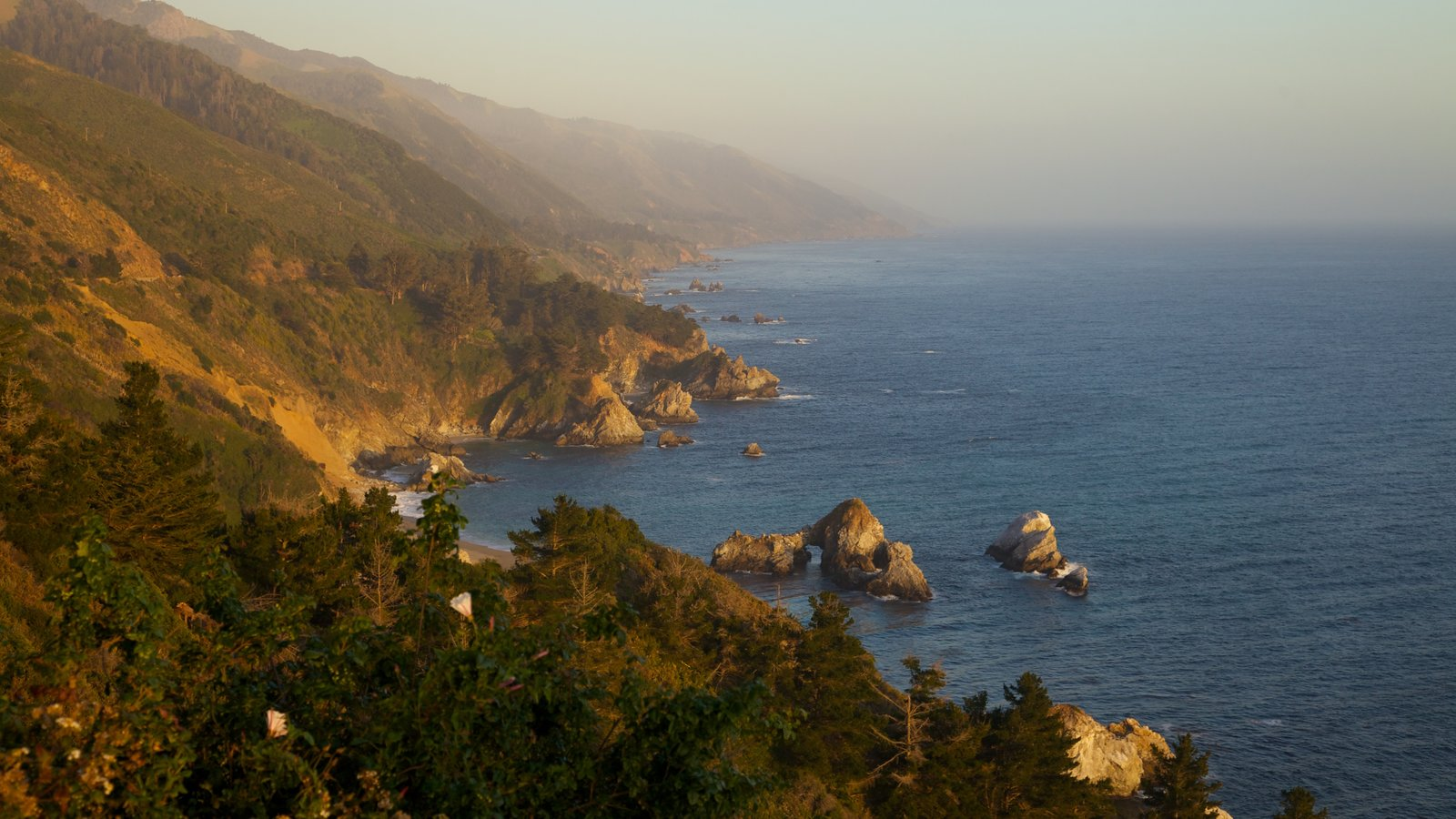 Pfeiffer Big Sur State Park featuring landscape views and rocky coastline