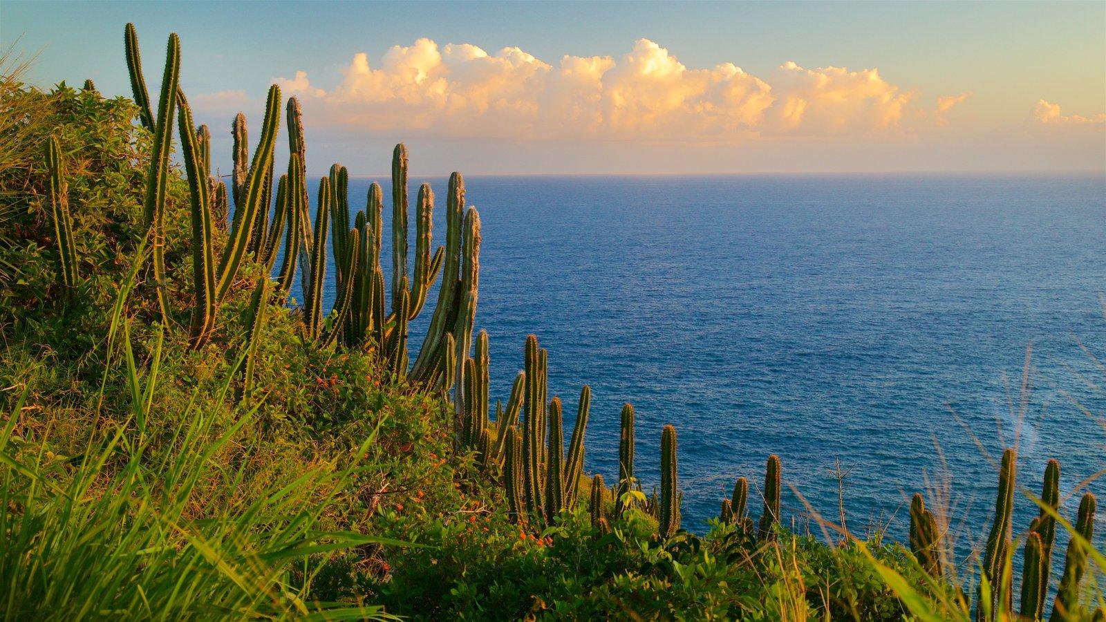 Mirante do Pontal do Atalaia caracterizando um pôr do sol e paisagens litorâneas
