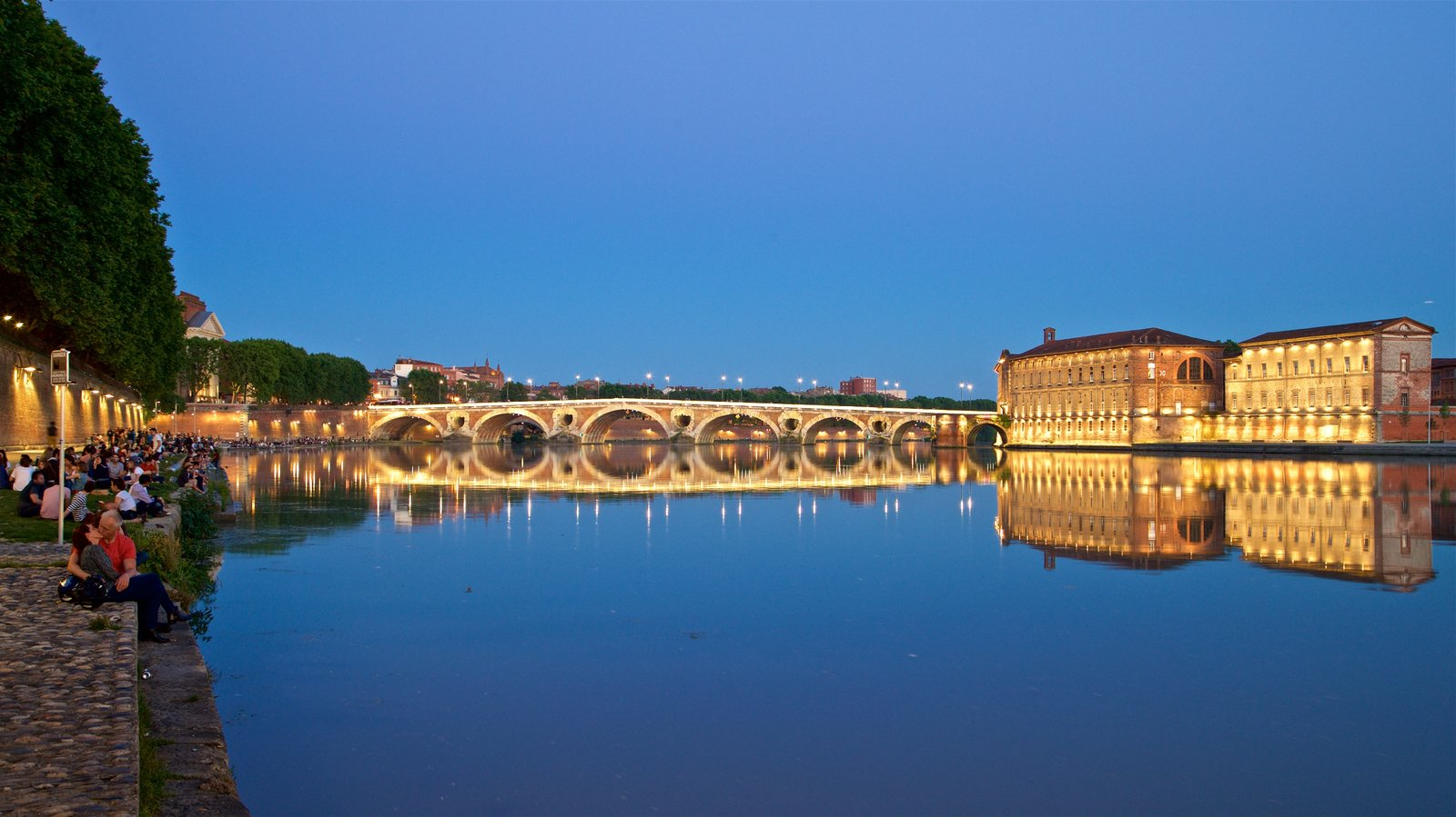 Pont Neuf which includes heritage architecture, a river or creek and night scenes