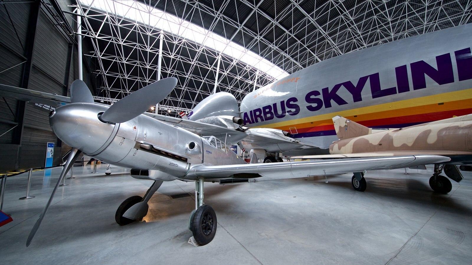 Airbus showing aircraft and interior views