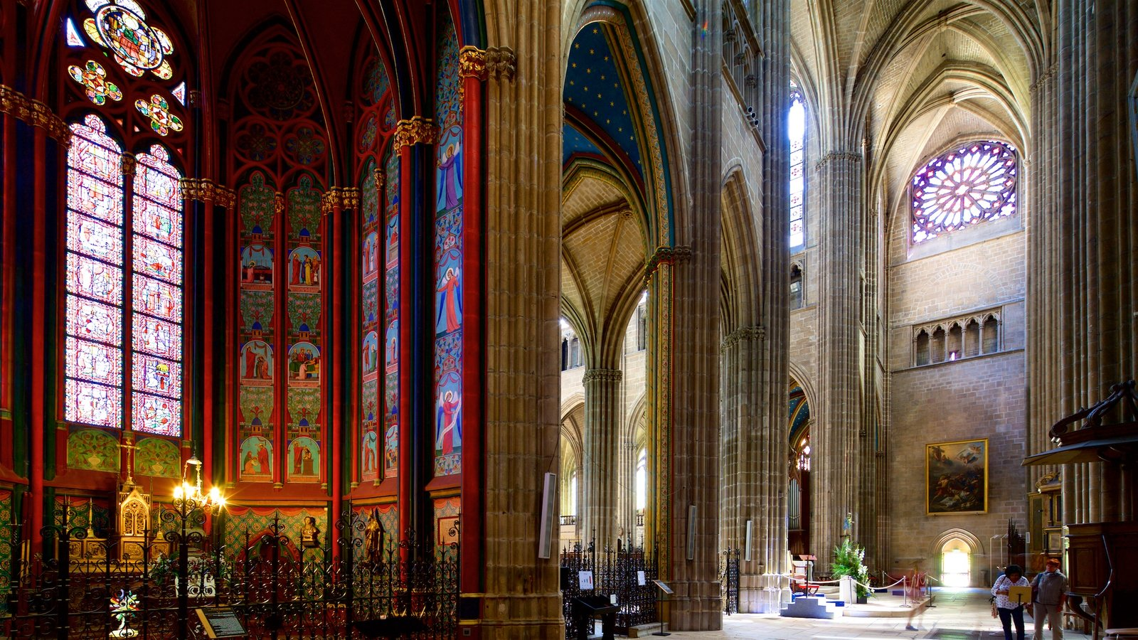 Limoges Cathedral featuring heritage elements, interior views and a church or cathedral