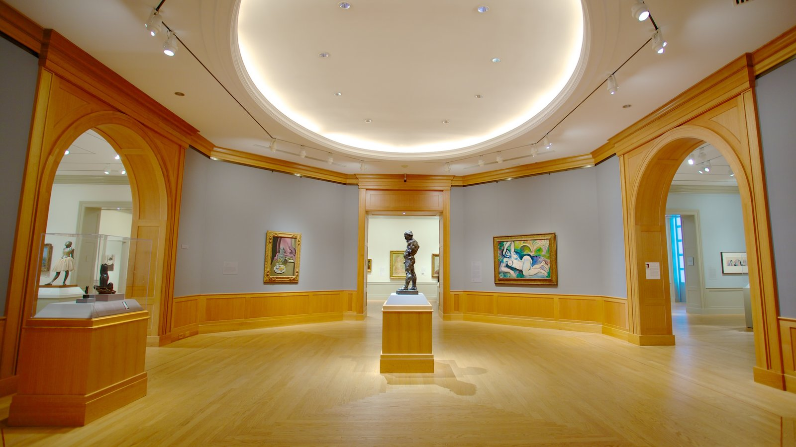 Baltimore Museum of Art showing interior views and art