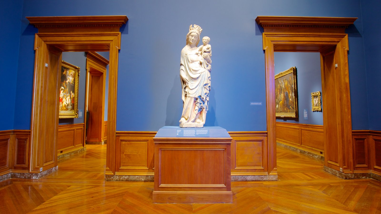 Baltimore Museum of Art featuring interior views, a statue or sculpture and art