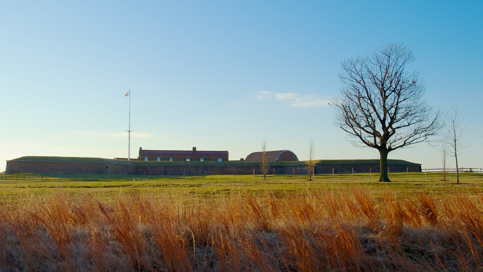 Fort McHenry featuring landscape views