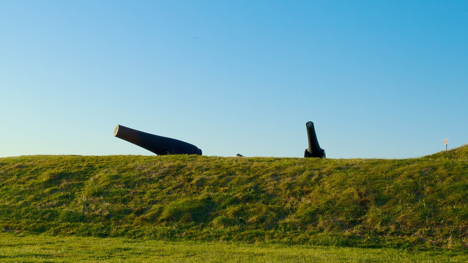 Fort McHenry showing military items and landscape views