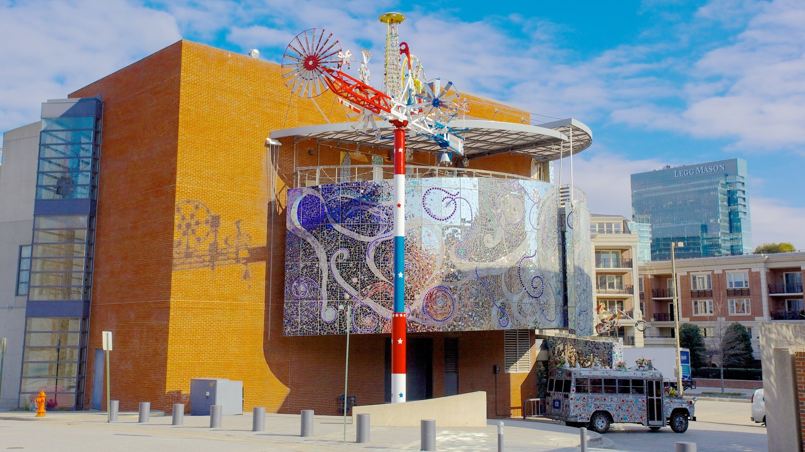 American Visionary Art Museum showing a city and art