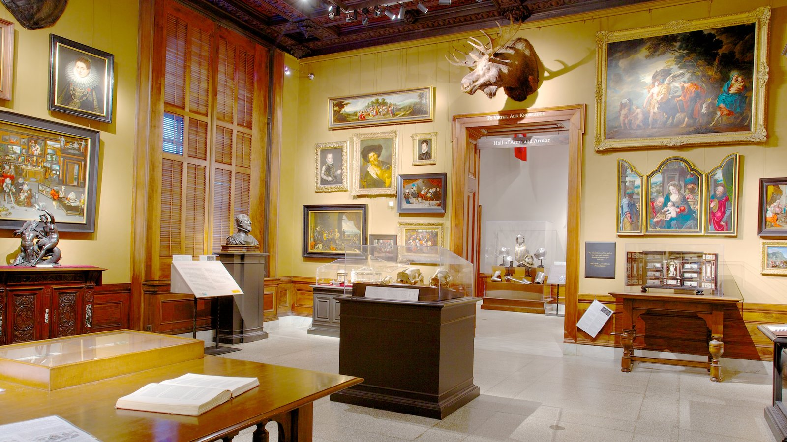 Walters Art  Museum featuring interior views and art