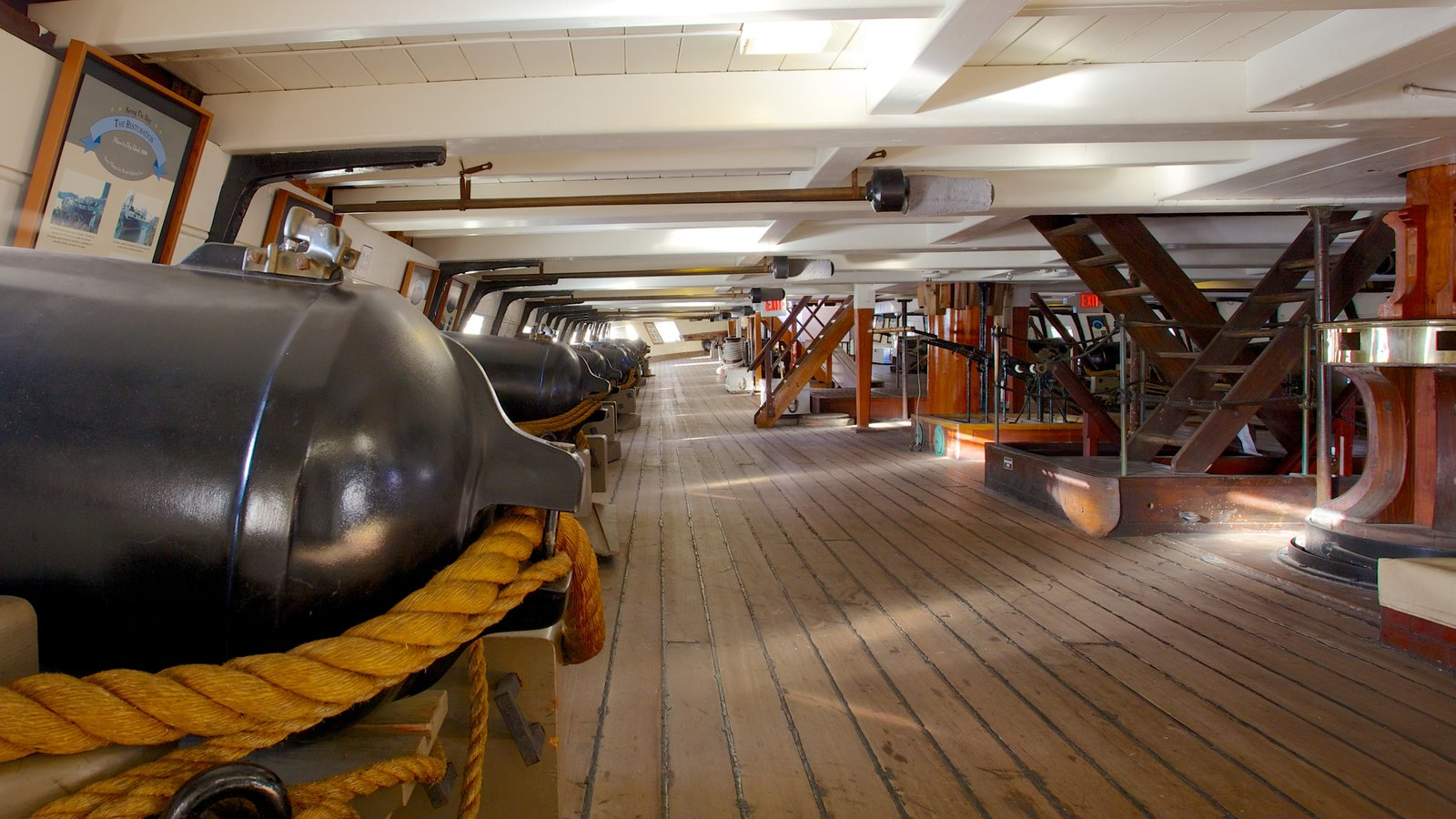 USS Constellation which includes military items and interior views