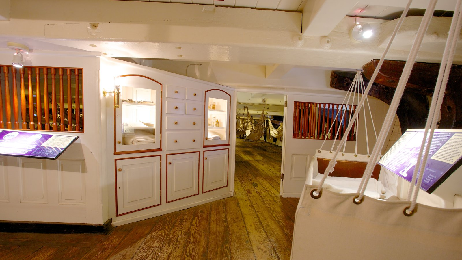 USS Constellation which includes interior views
