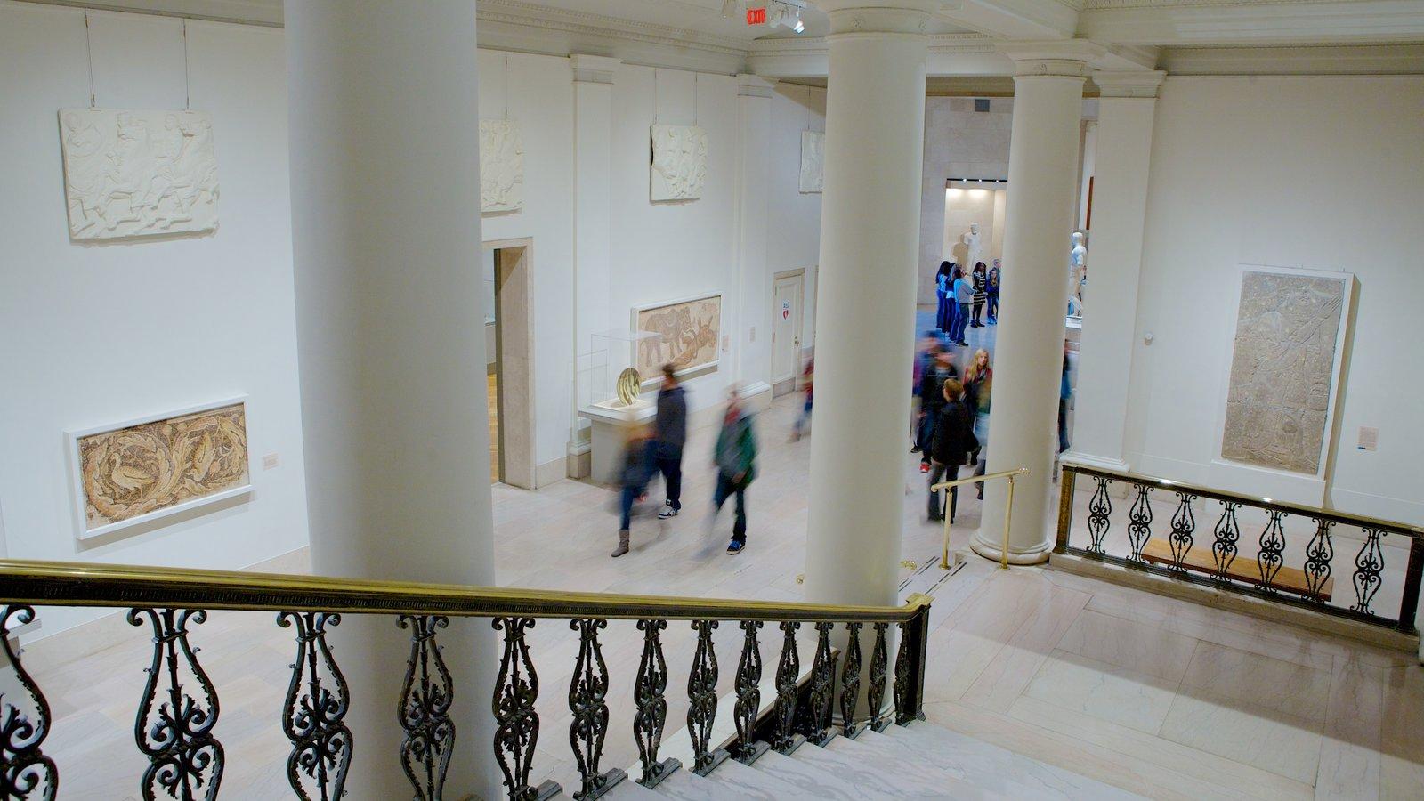 Minneapolis Institute of Arts mostrando vistas internas e arte