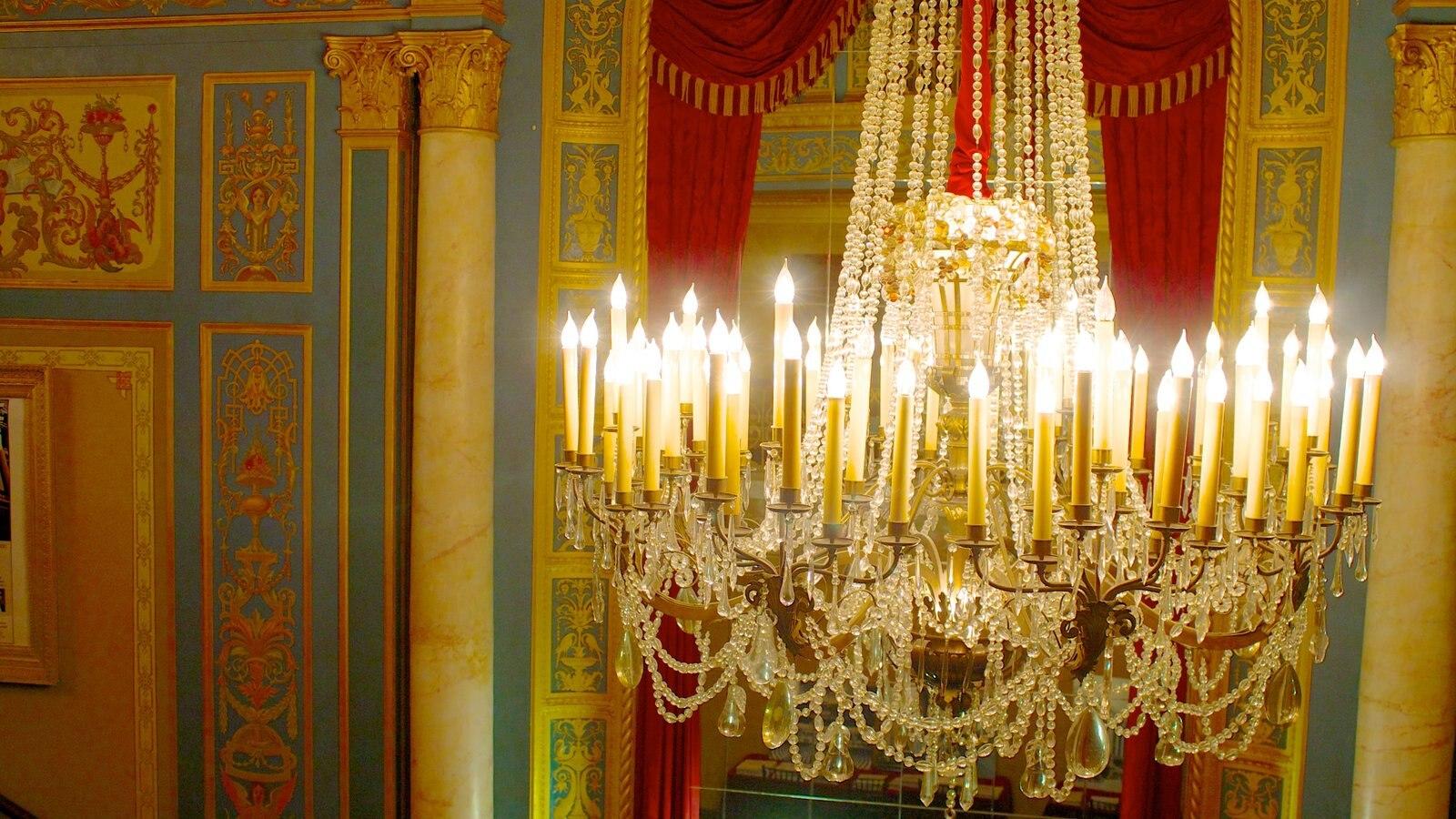 Detroit Opera House mostrando vistas internas e cenas de teatro