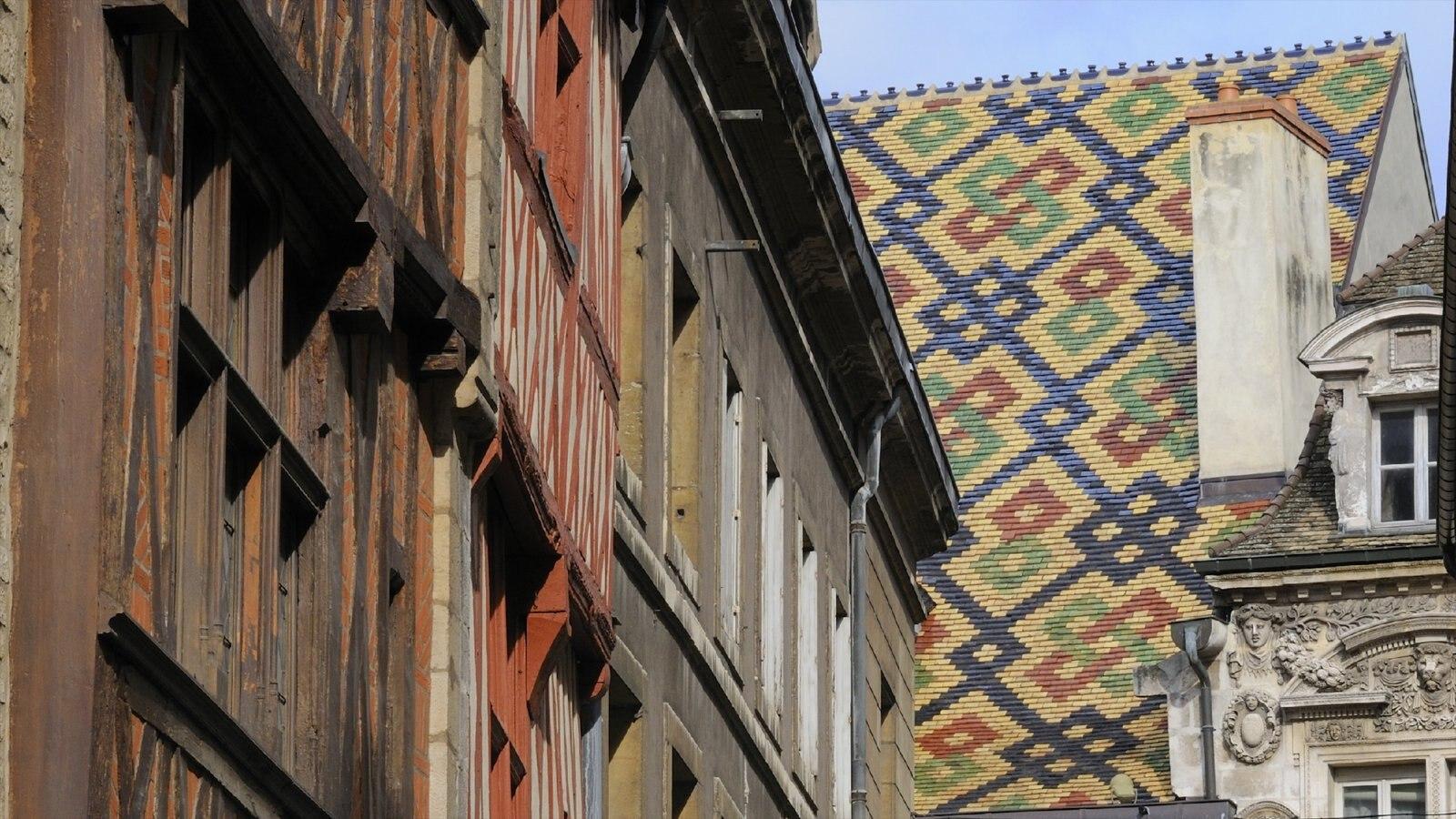 Dijon que inclui uma cidade, uma casa e arquitetura de patrimônio