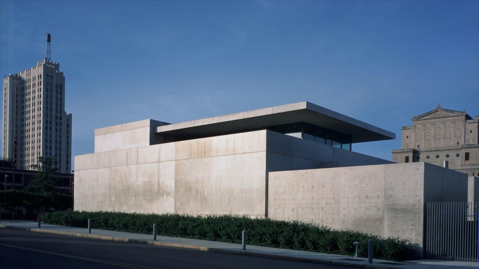Pulitzer Foundation for the Arts mostrando arte, arquitetura moderna e um edifício