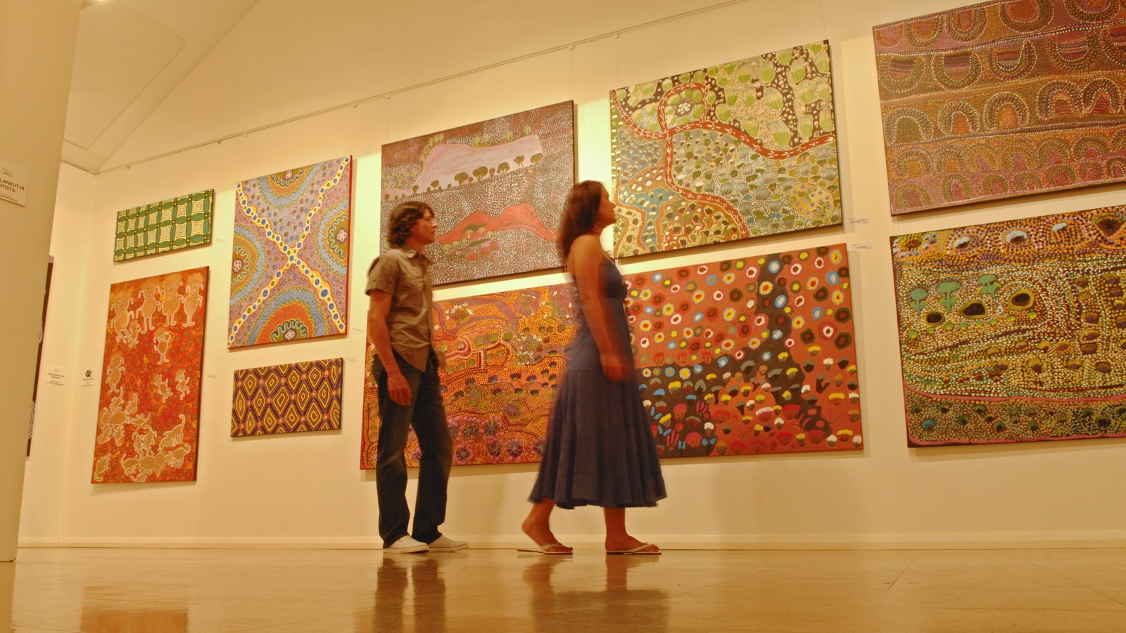 Alice Springs featuring interior views and art as well as a couple