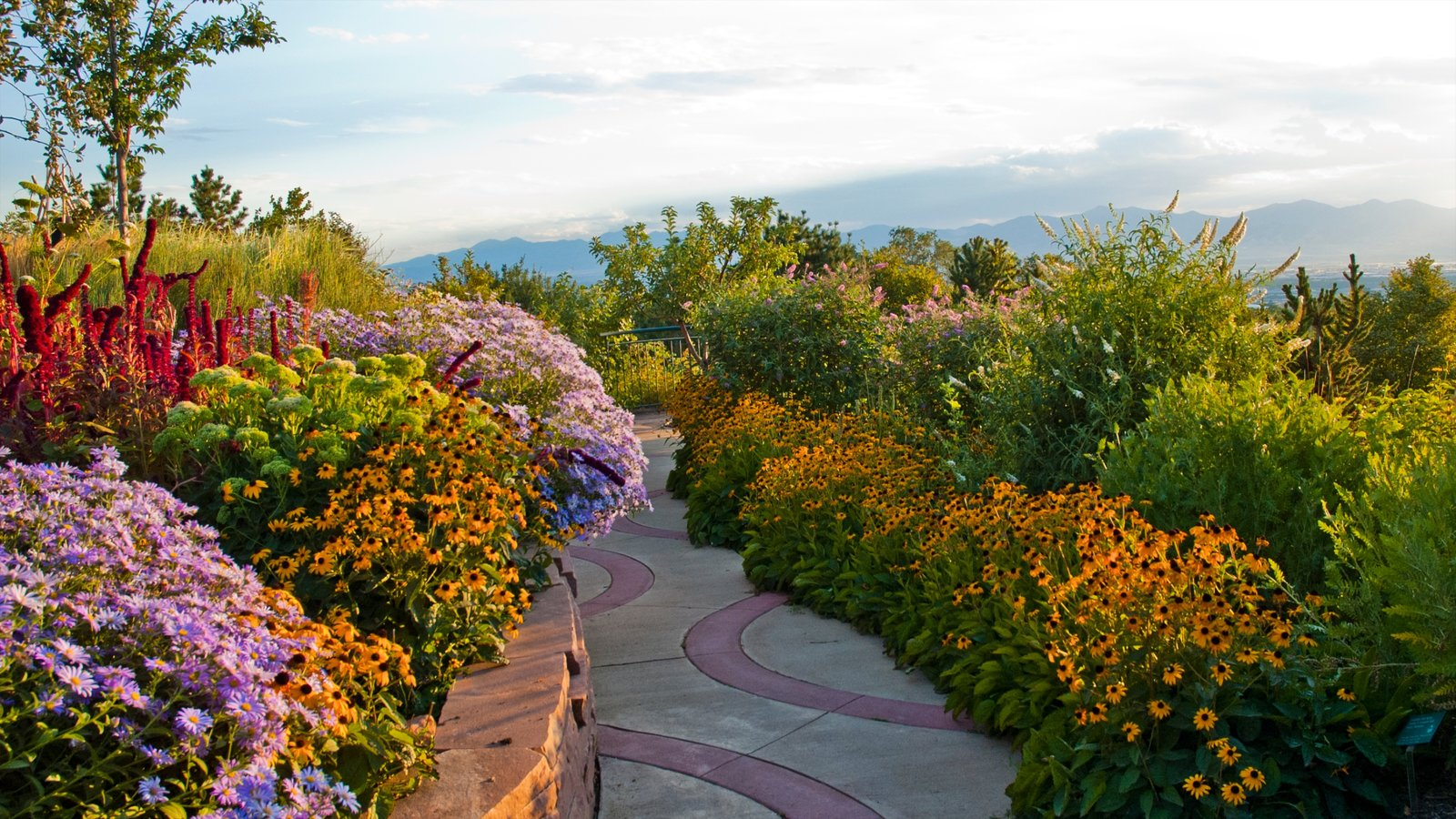 Red Butte Garden and Arboreteum showing a garden and flowers