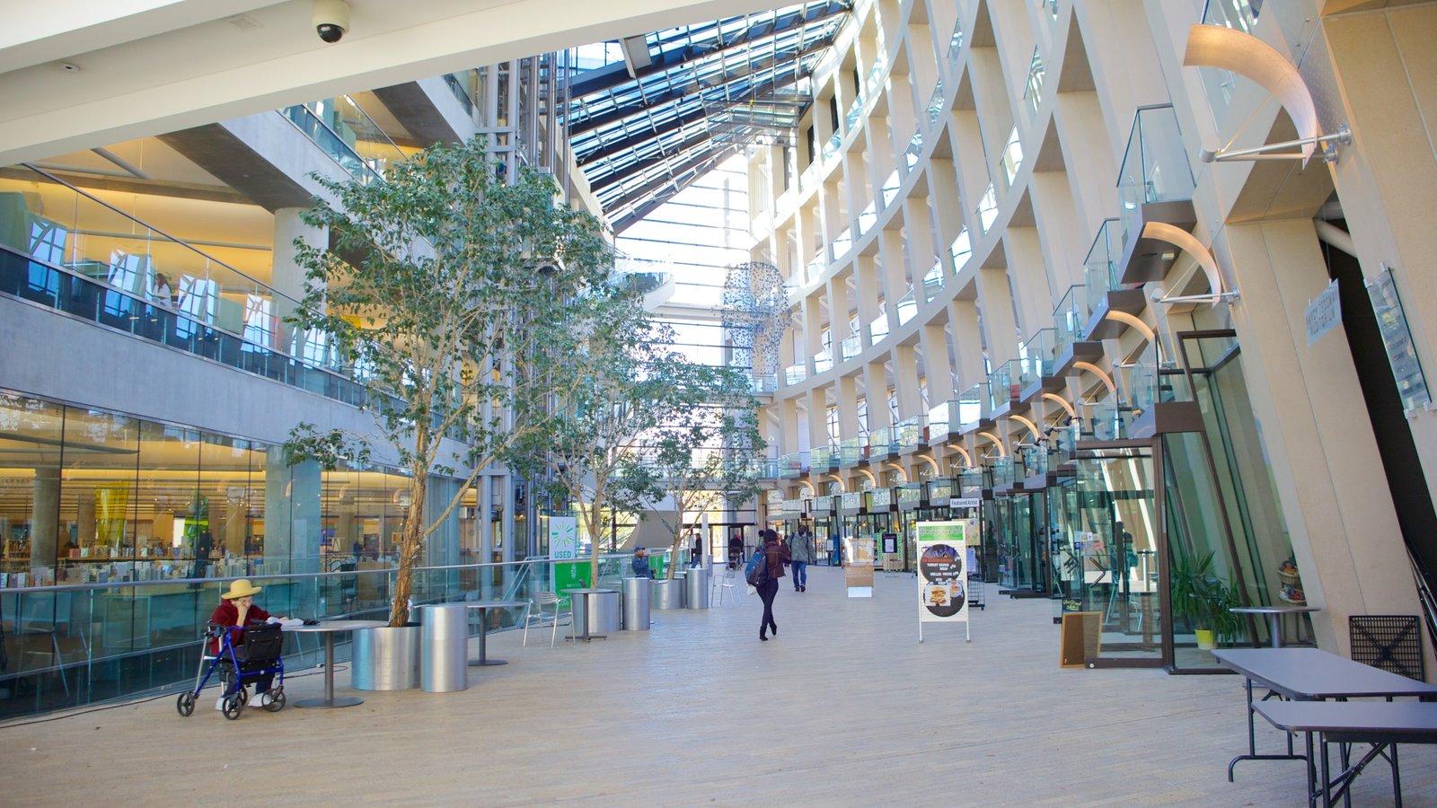 Salt Lake Public Library Main Building mostrando vistas interiores y arquitectura moderna