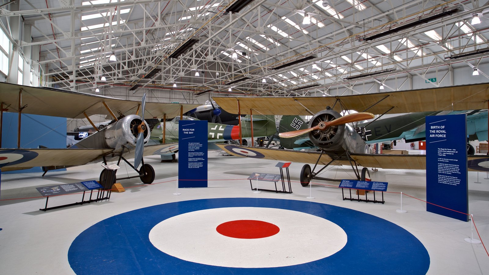 Cosford Royal Air Force Museum featuring aircraft, interior views and heritage elements