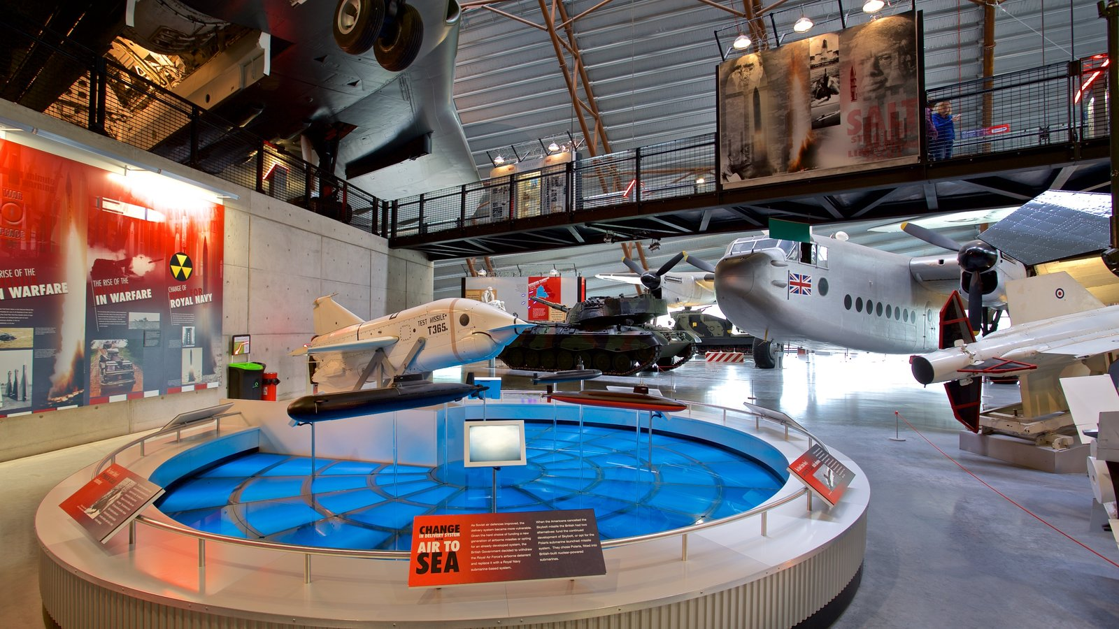 Cosford Royal Air Force Museum showing aircraft and interior views