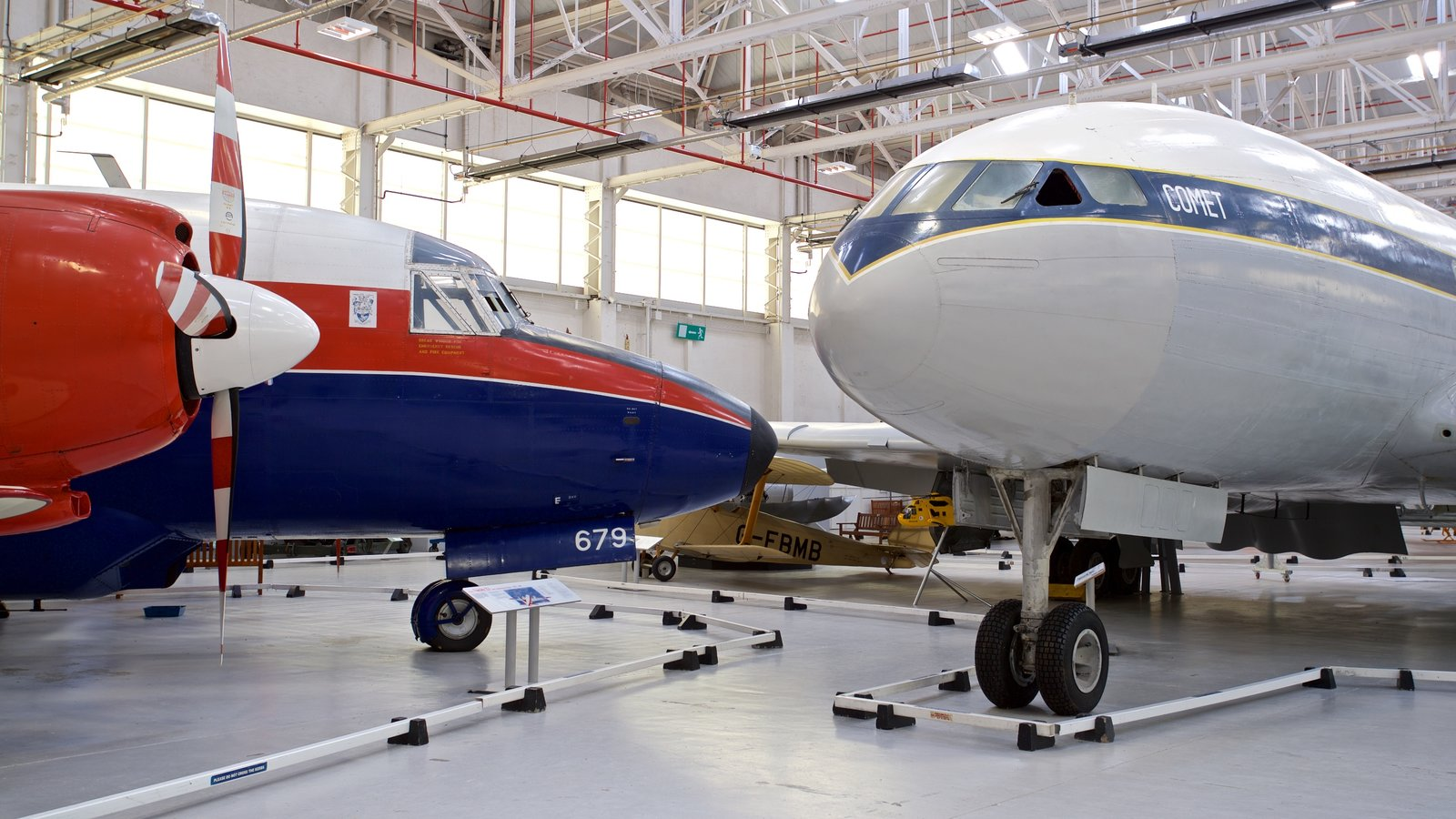 Cosford Royal Air Force Museum which includes aircraft and interior views