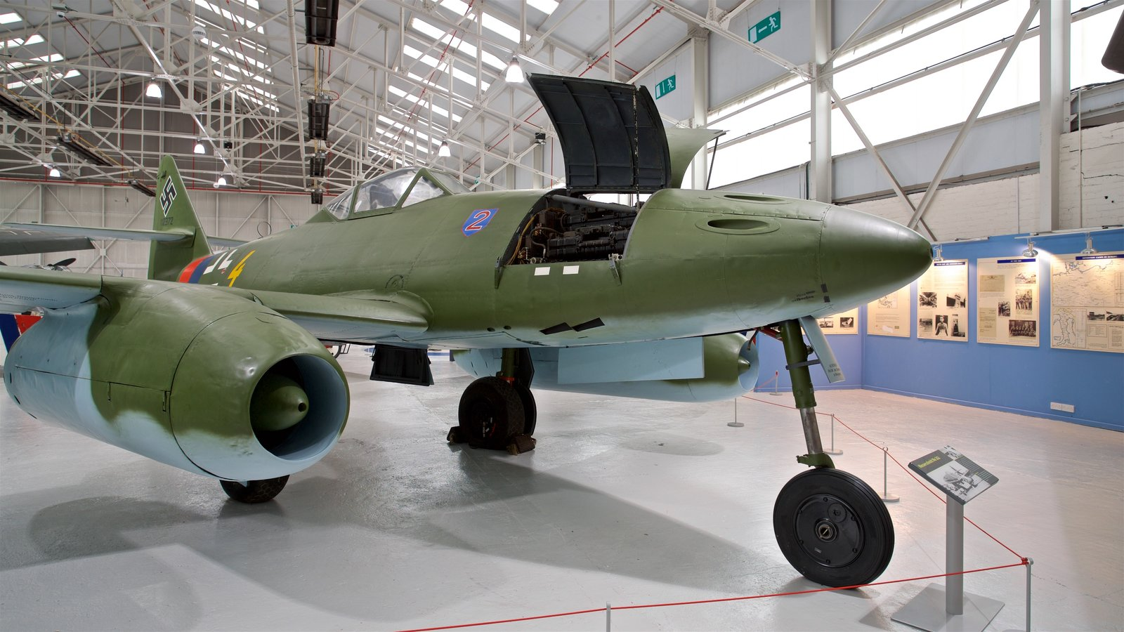 Cosford Royal Air Force Museum which includes interior views and aircraft