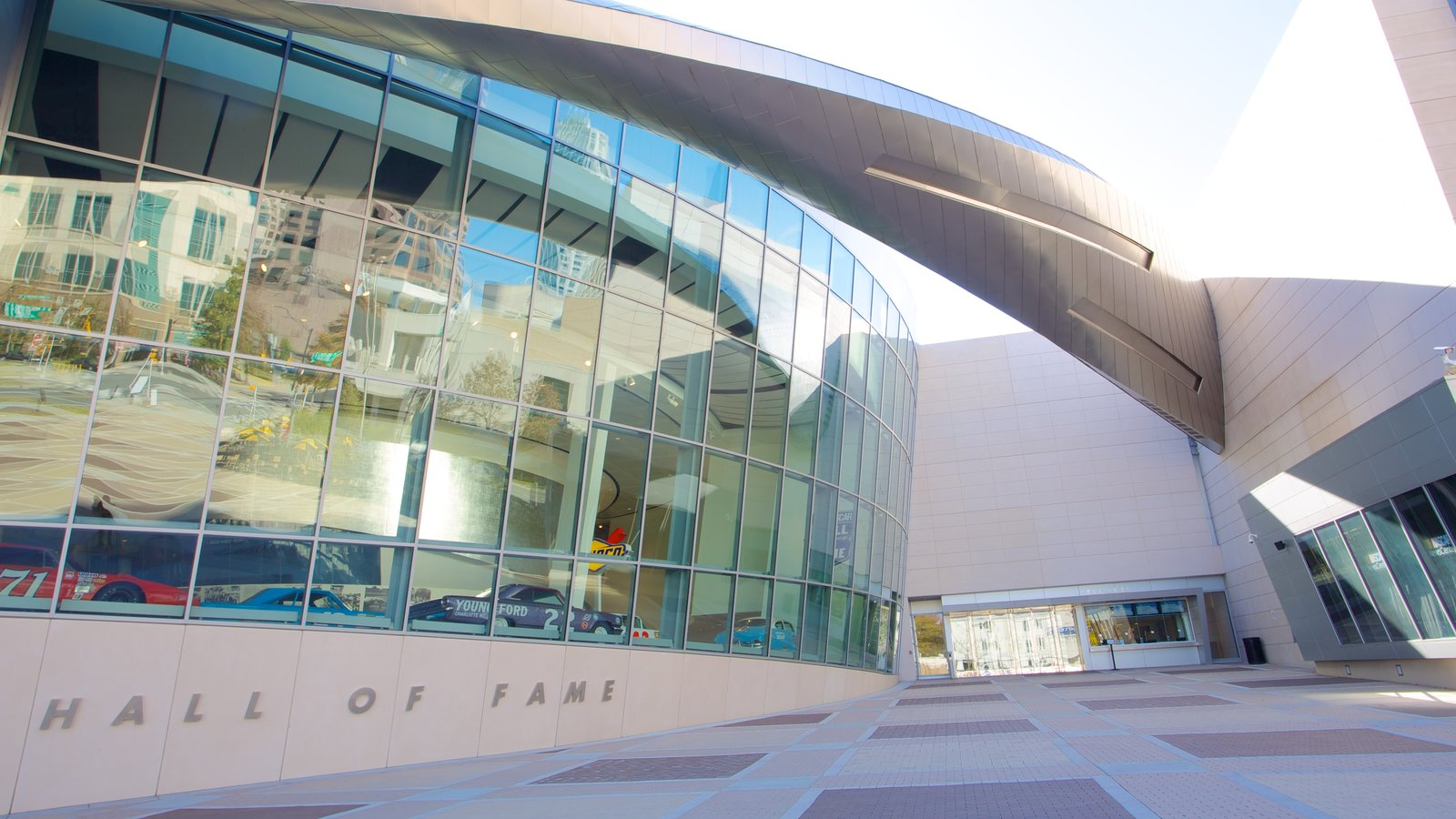 NASCAR Hall of Fame which includes modern architecture and a city