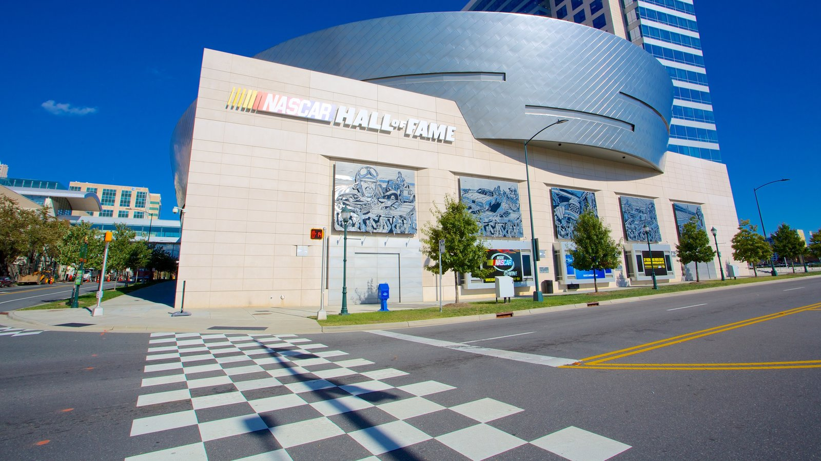 NASCAR Hall of Fame featuring a city and street scenes