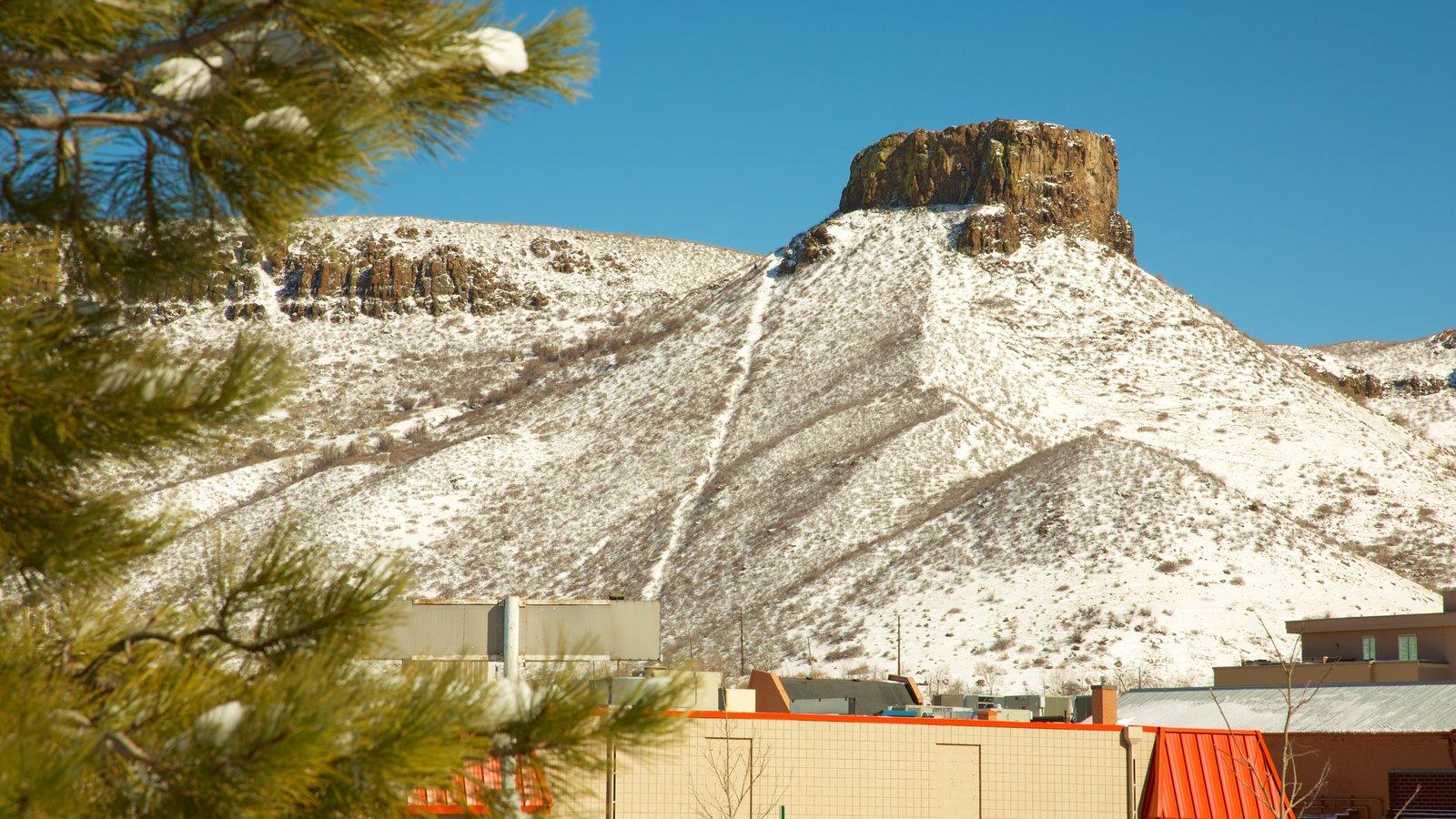 Golden caracterizando neve e montanhas