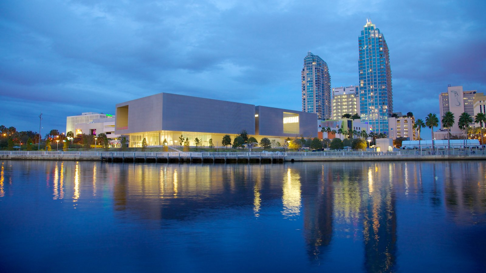 Tampa Museum of Art featuring a city, a high rise building and modern architecture
