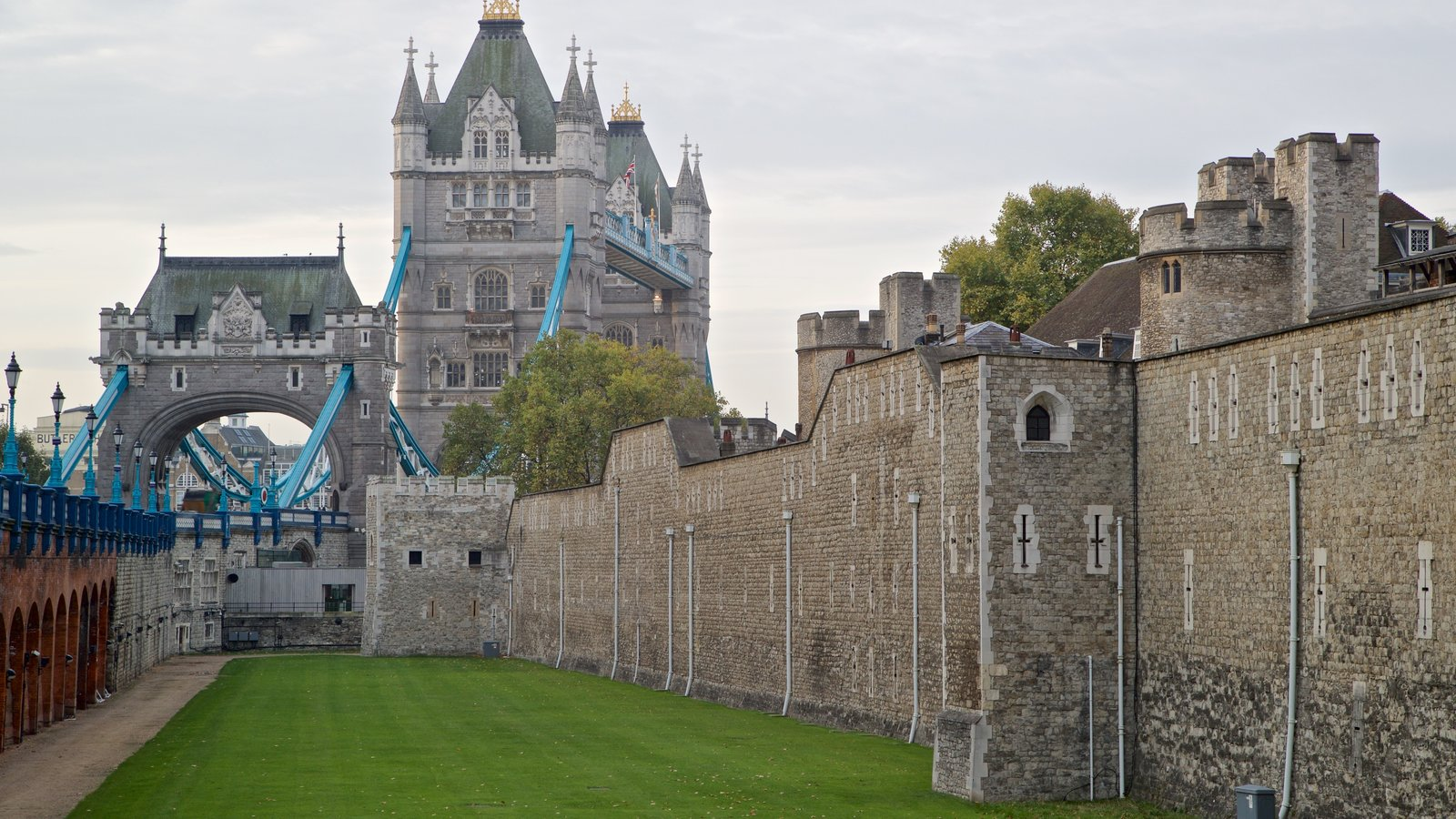 Tower Bridge featuring a castle and heritage elements