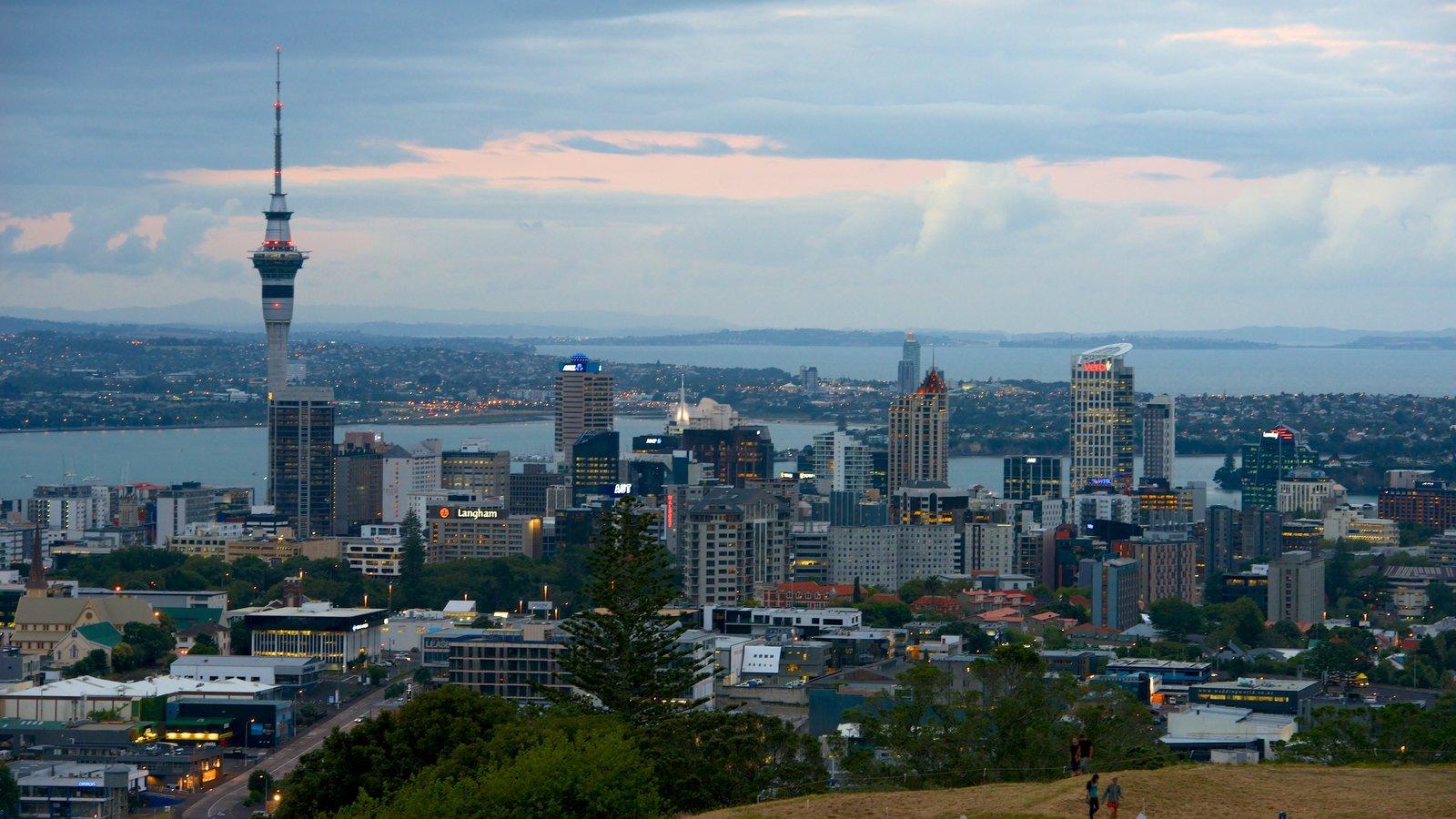 Mt. Eden which includes a skyscraper, cbd and a city