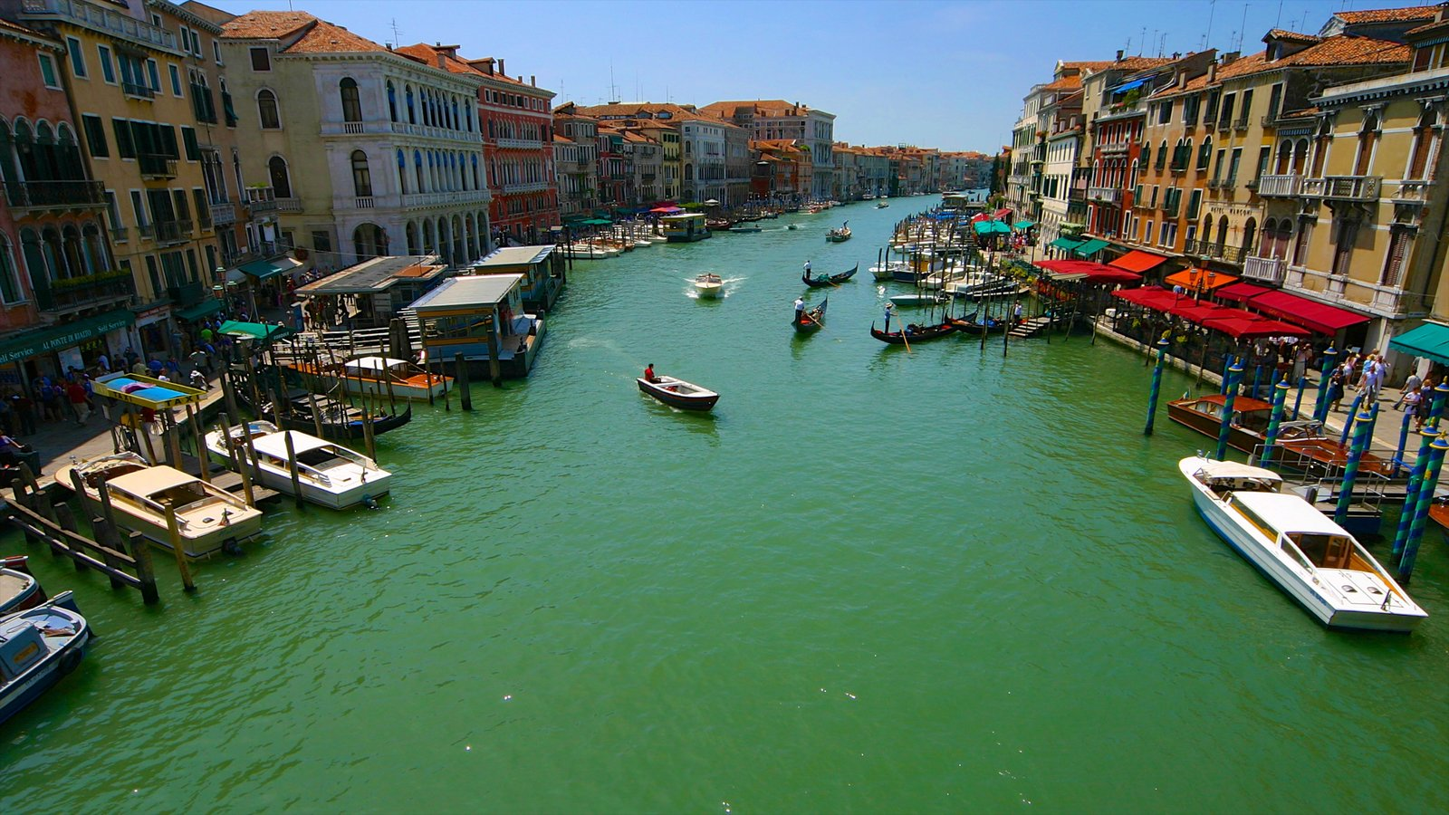 Grand Canal featuring boating, a bay or harbor and heritage architecture