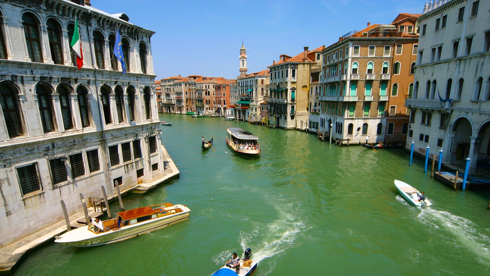 Grand Canal featuring a city, a bay or harbor and heritage architecture