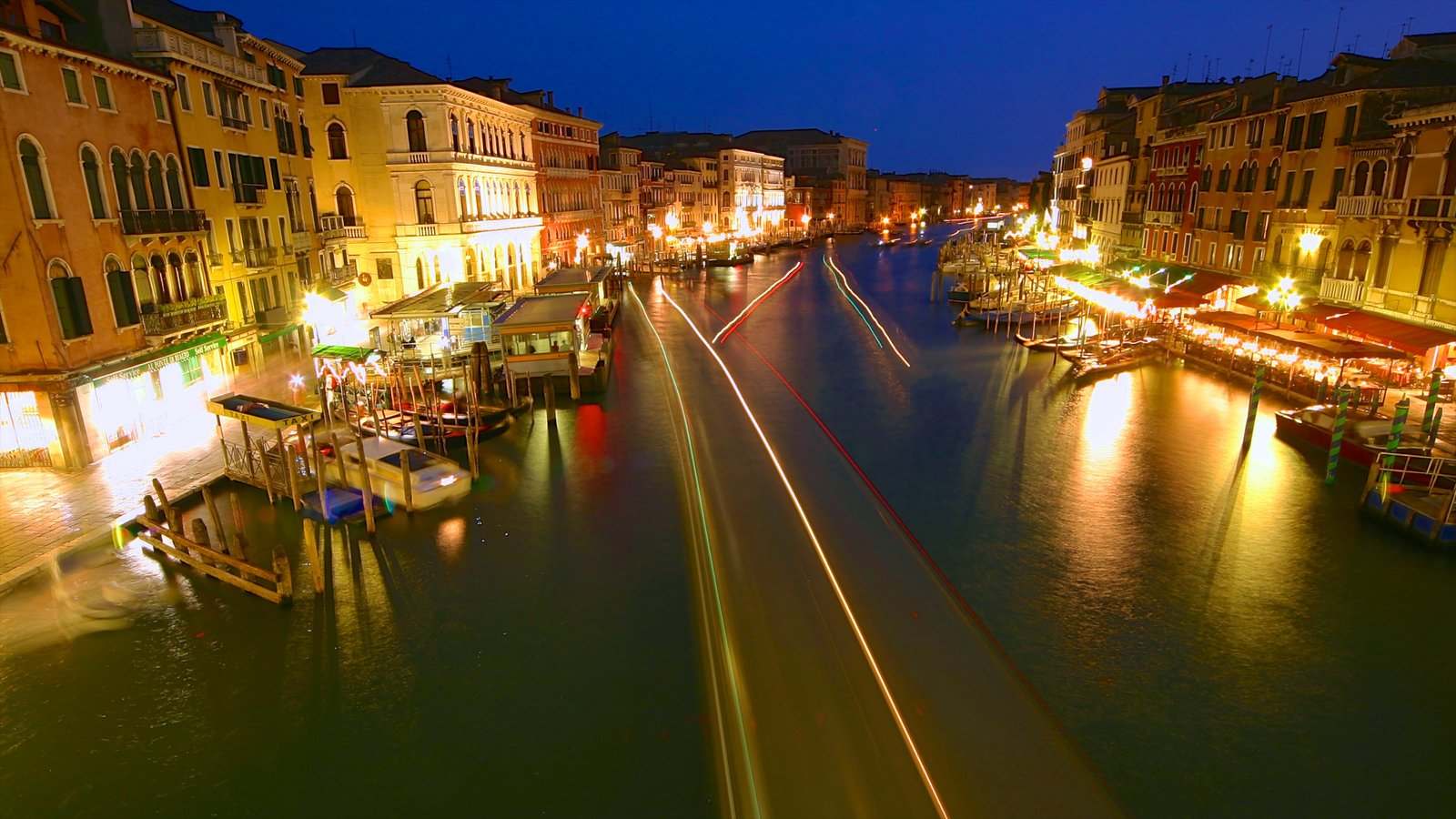 Grand Canal which includes a city, a bay or harbor and a river or creek