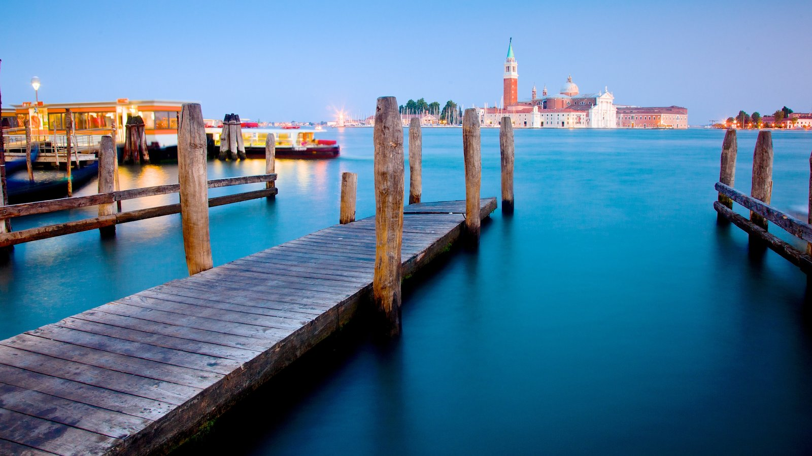Church of San Giorgio Maggiore featuring a church or cathedral, a bay or harbour and religious elements