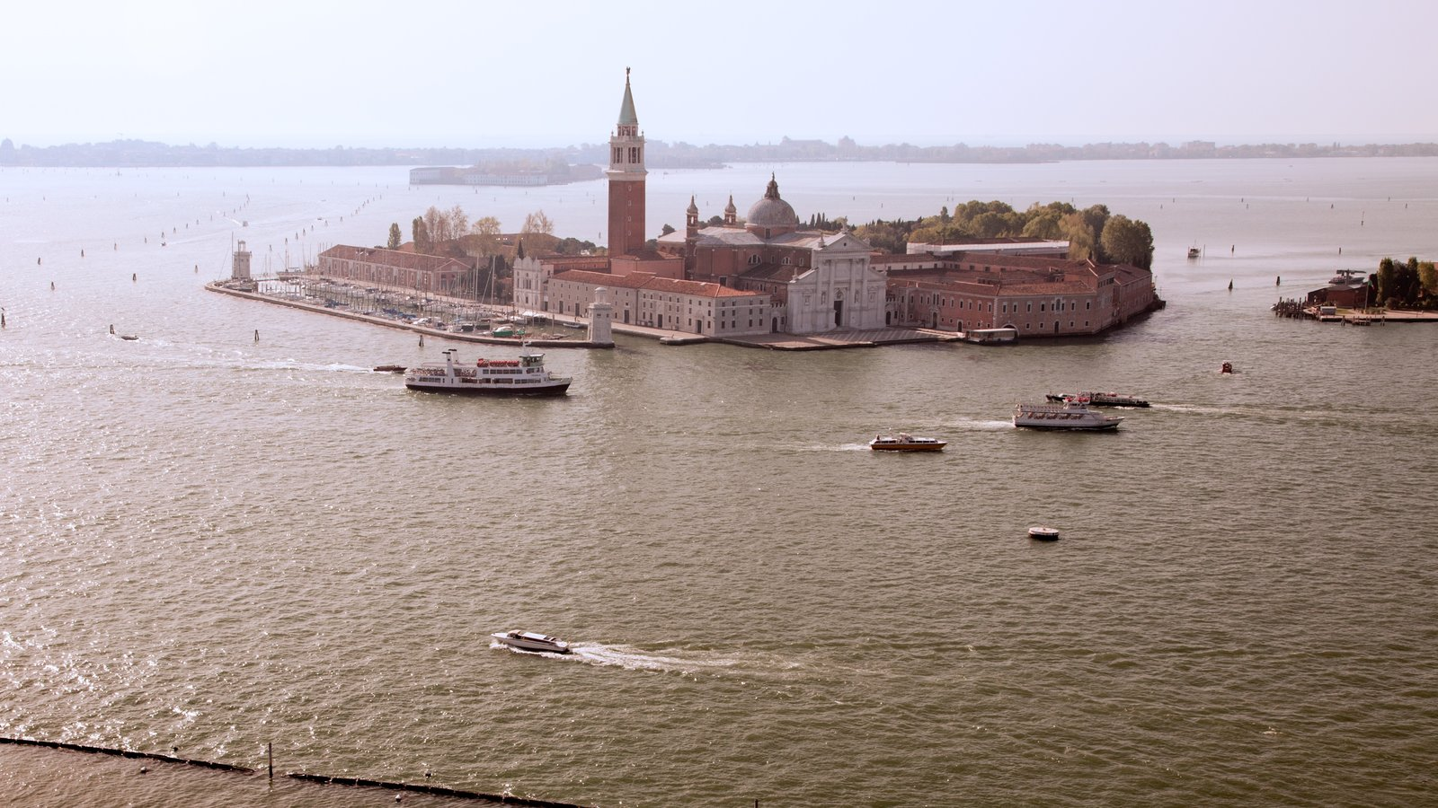 Church of San Giorgio Maggiore showing island images, a church or cathedral and religious aspects