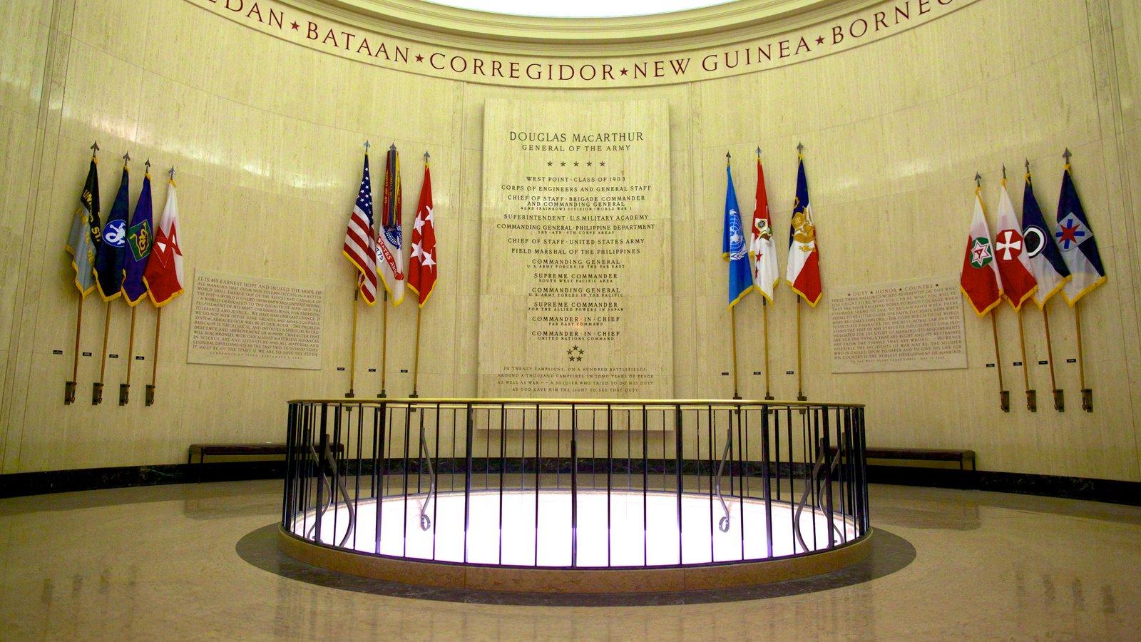 Douglas MacArthur Memorial que inclui vistas internas e um memorial