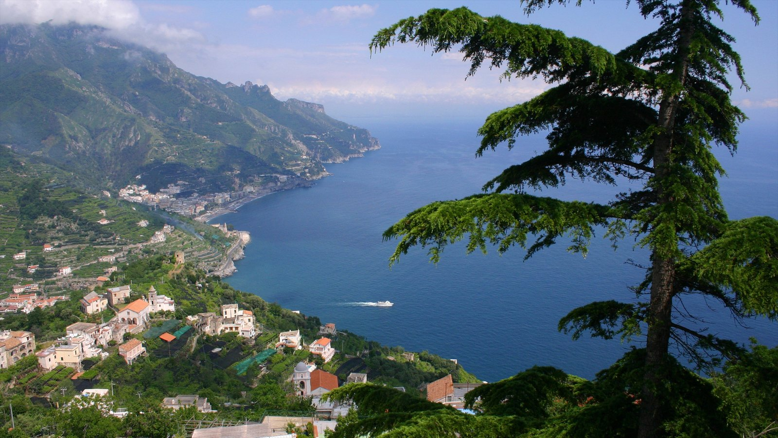 Amalfi Coast showing general coastal views, mountains and a coastal town