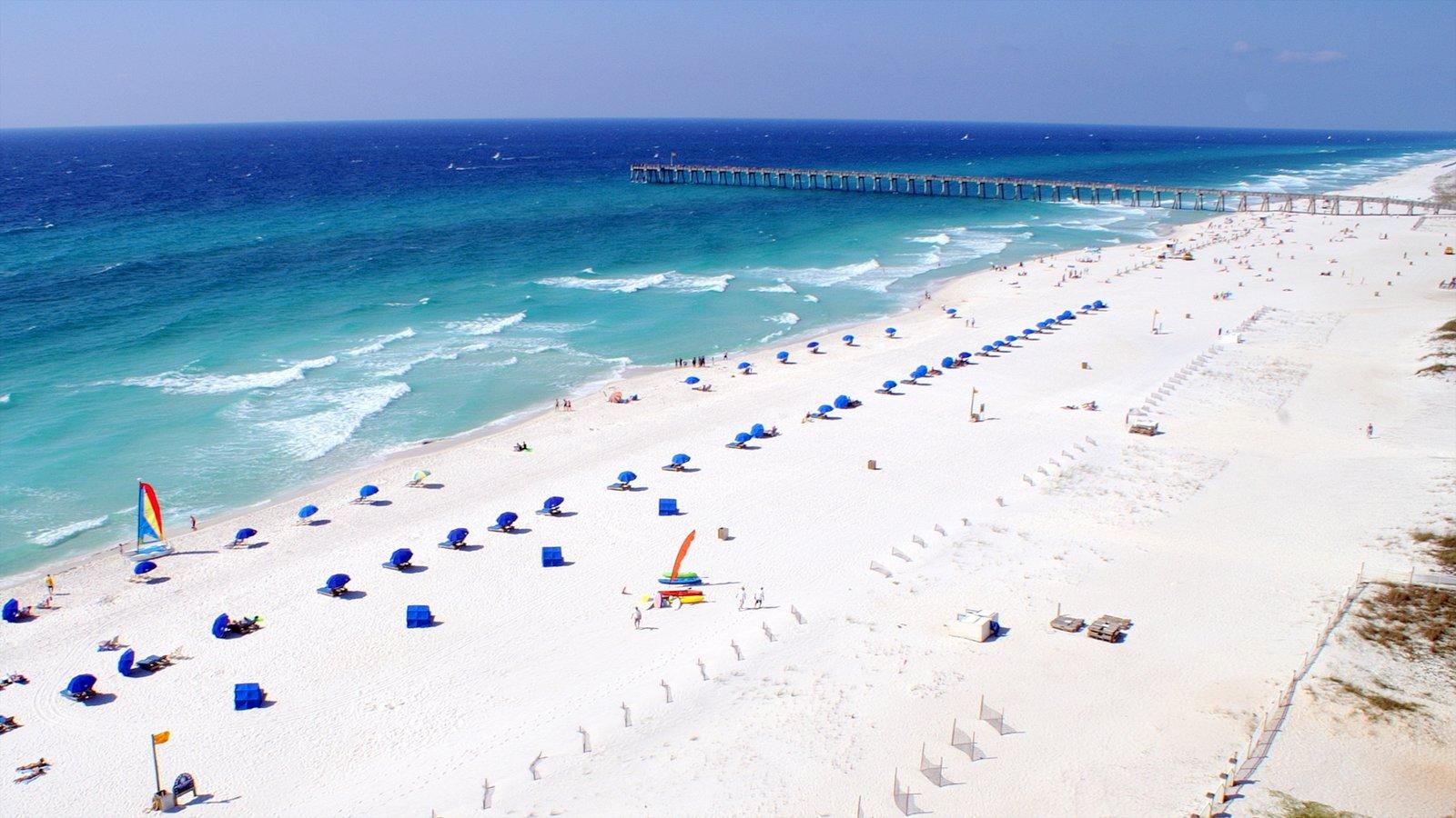 Pensacola Beach showing a beach